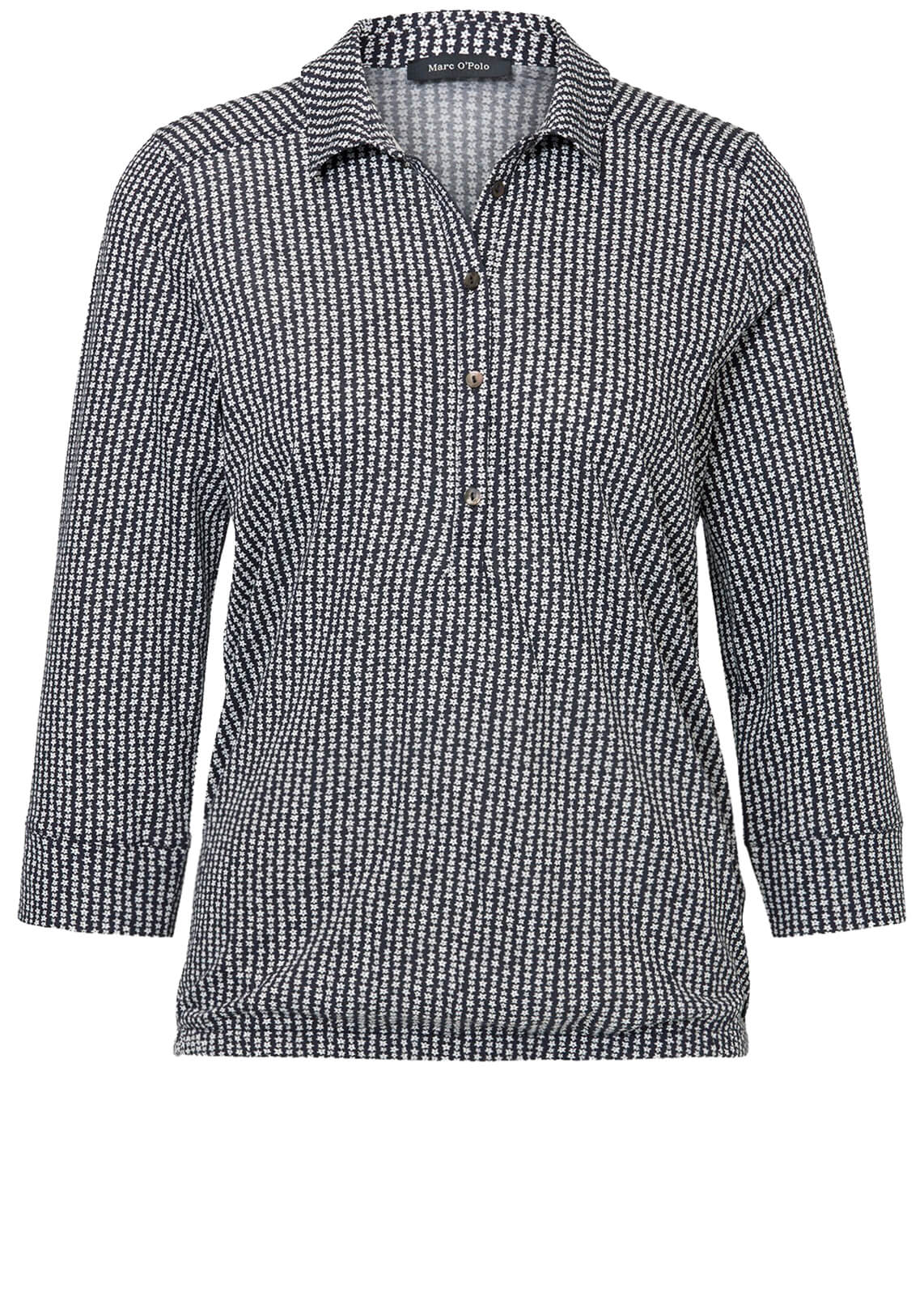 Marc O'Polo Dames Jersey blouse Blauw