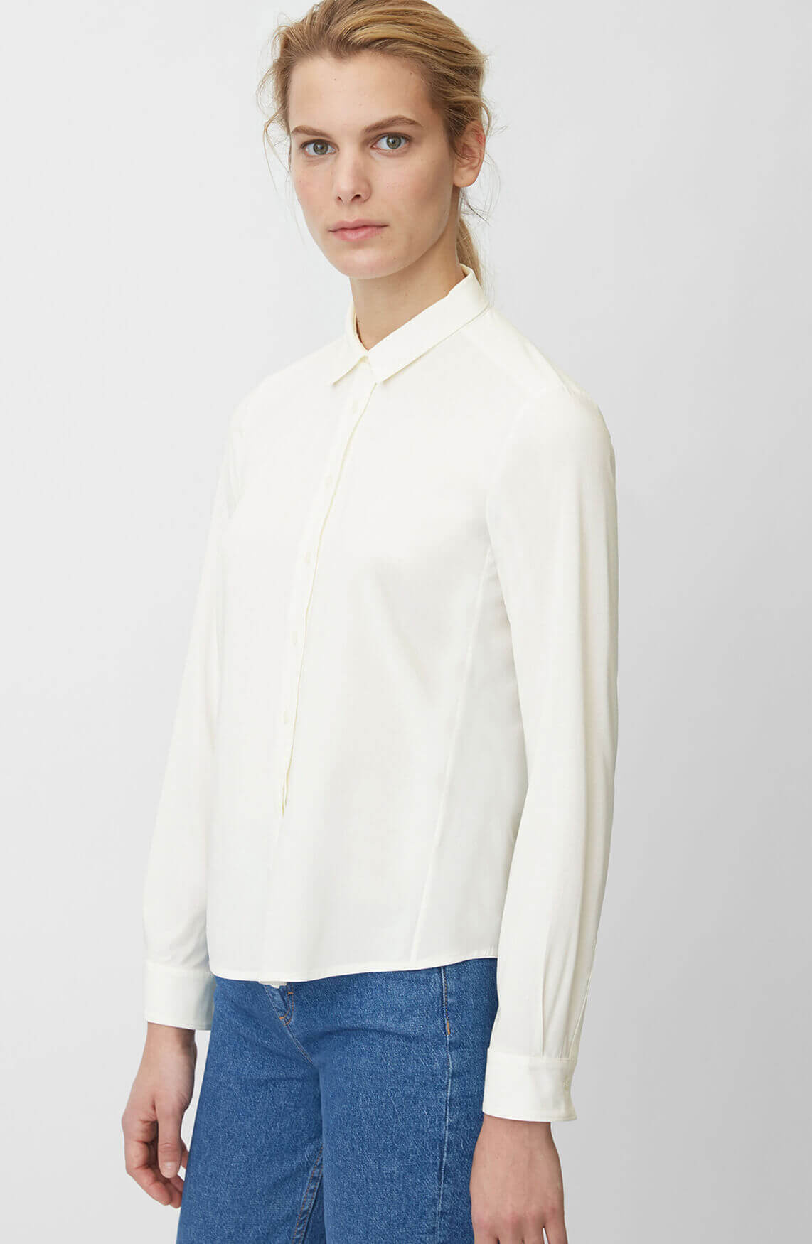 Marc O'Polo Dames Blouse met stretch wit