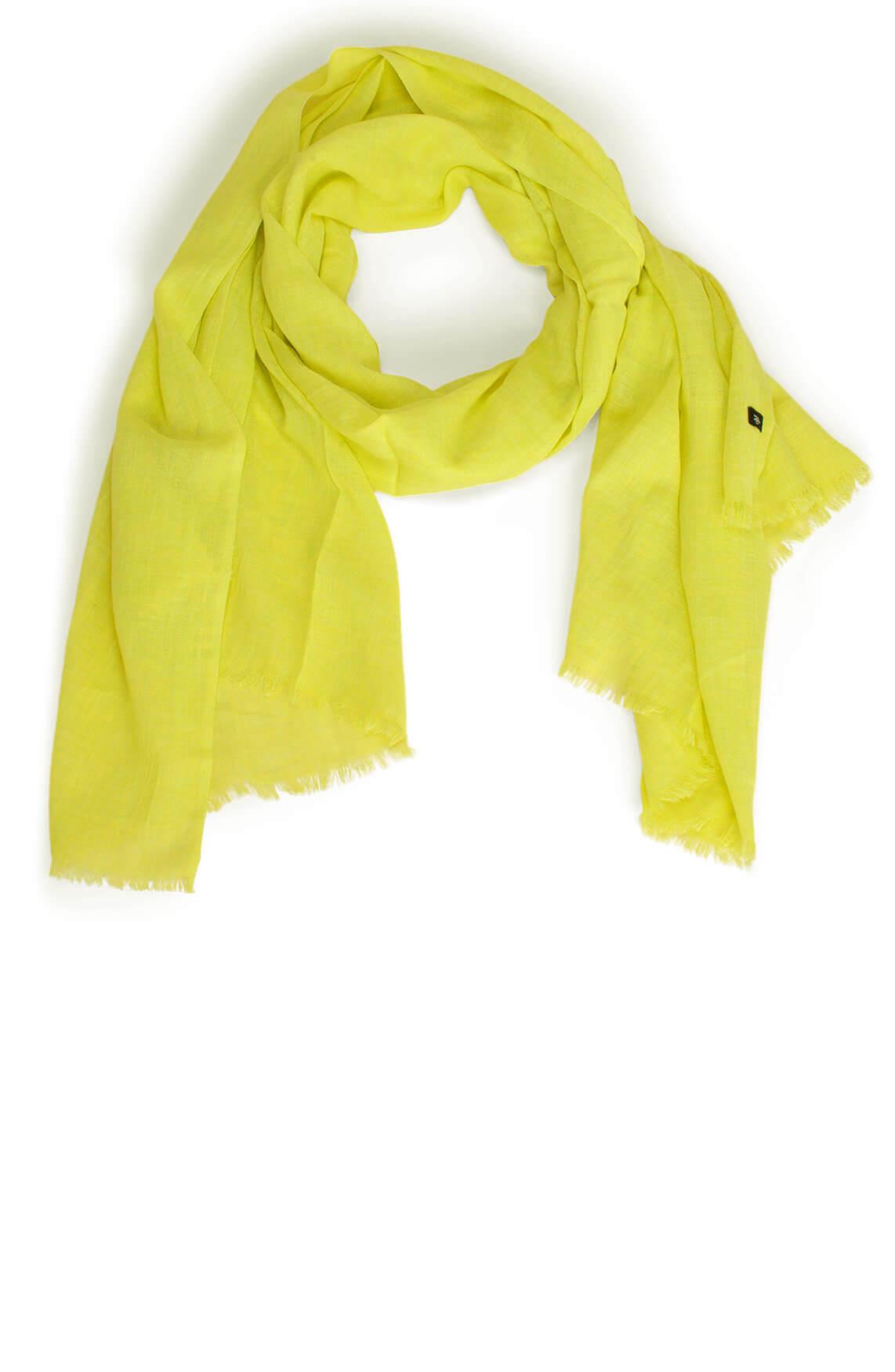 Marc O'Polo Dames Fijn geweven shawl geel