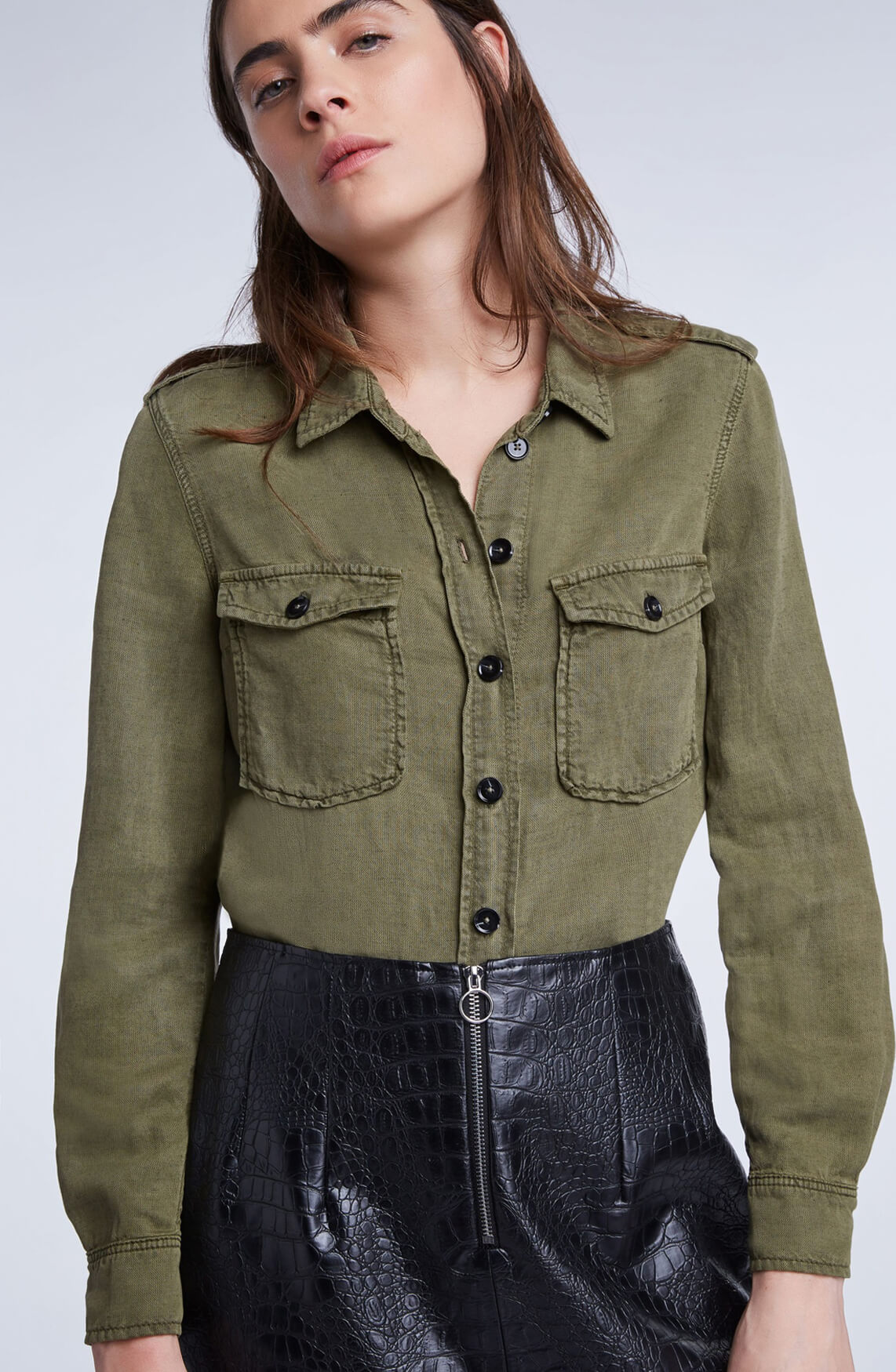 Set Dames Army blouse groen