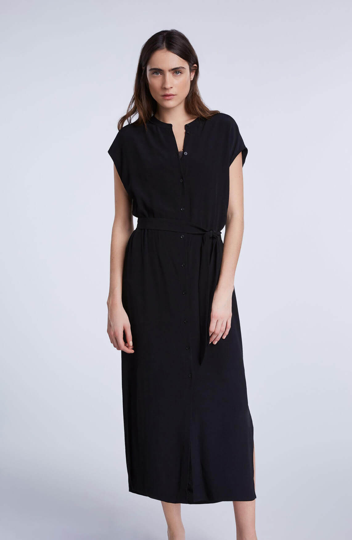 Set Dames Midi jurk zwart
