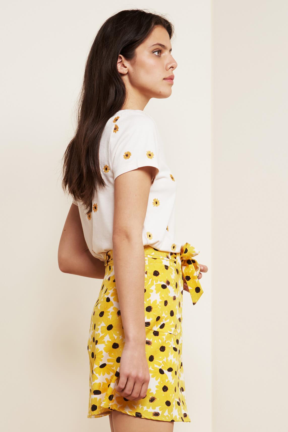 Fabienne Chapot Dames Kris sunny flowers shirt Ecru