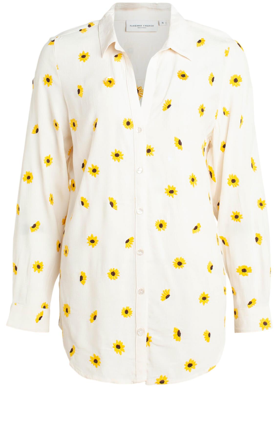 Fabienne Chapot Dames Lily Embro blouse geel