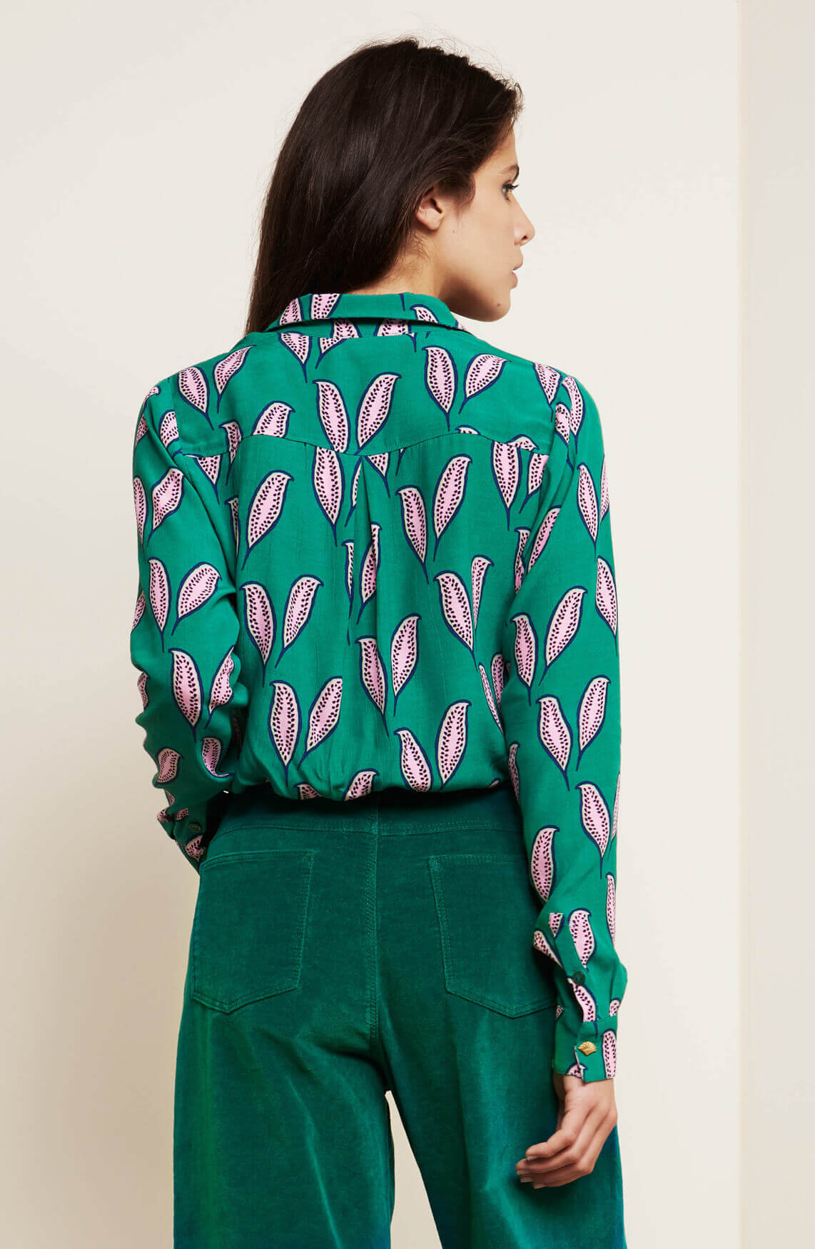 Fabienne Chapot Dames Lily pink pepper blouse groen