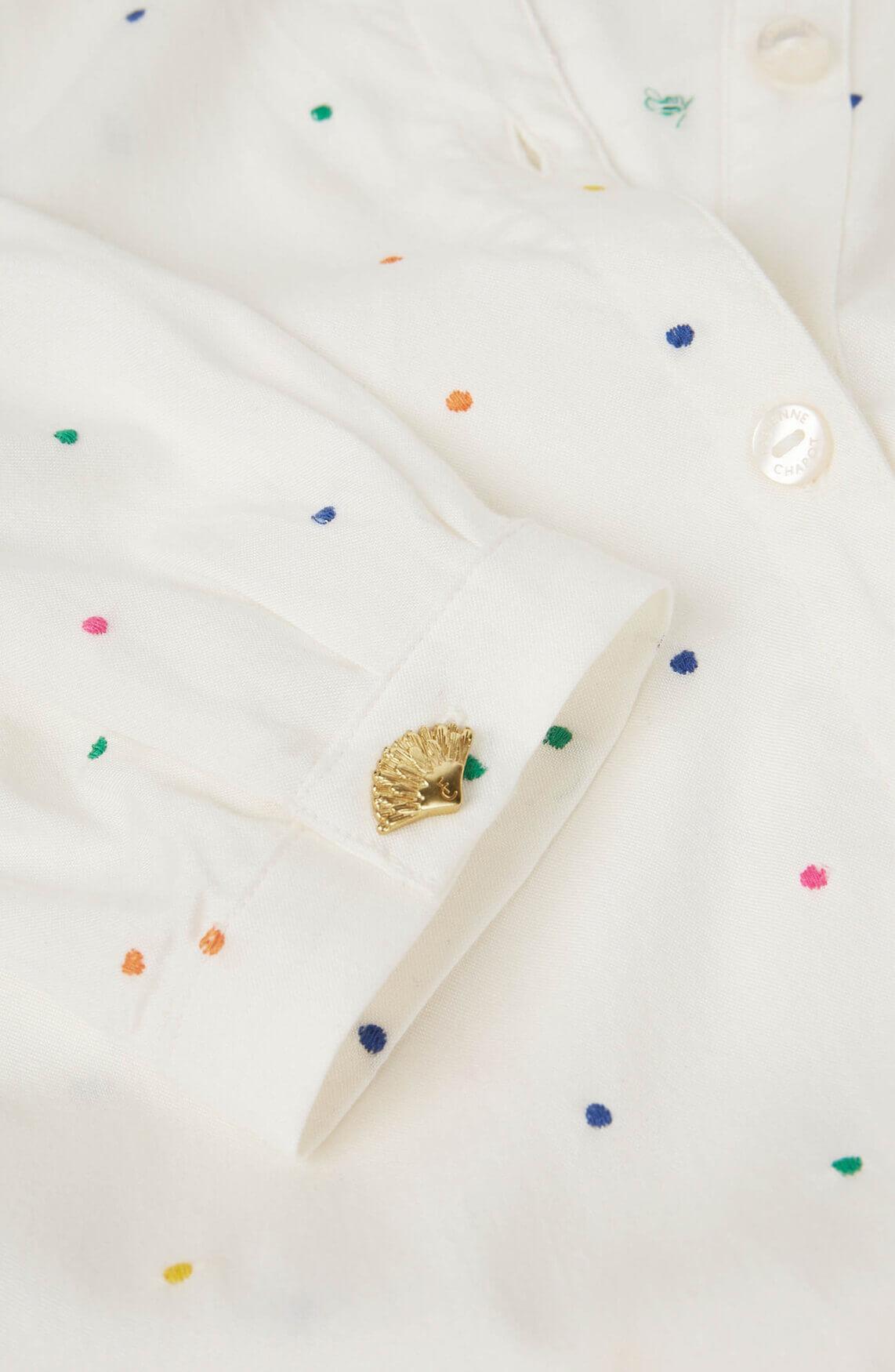Fabienne Chapot Dames Sjuul gestippelde blouse wit