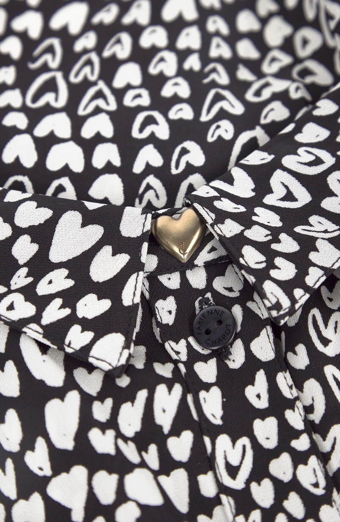 Fabienne Chapot Dames Boyfriend jurk met hartjes zwart
