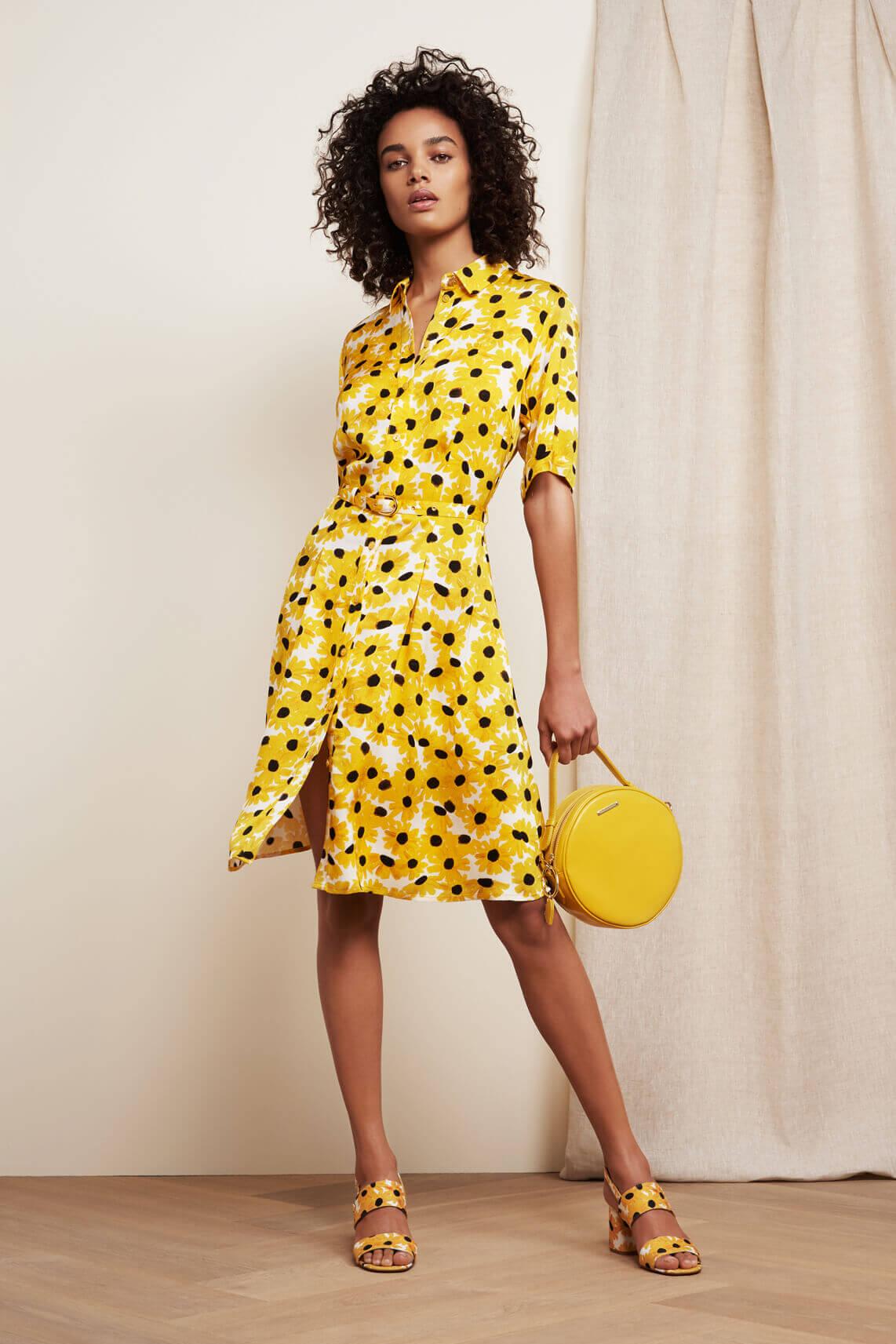 Fabienne Chapot Dames Mila sunny flowers jurk geel