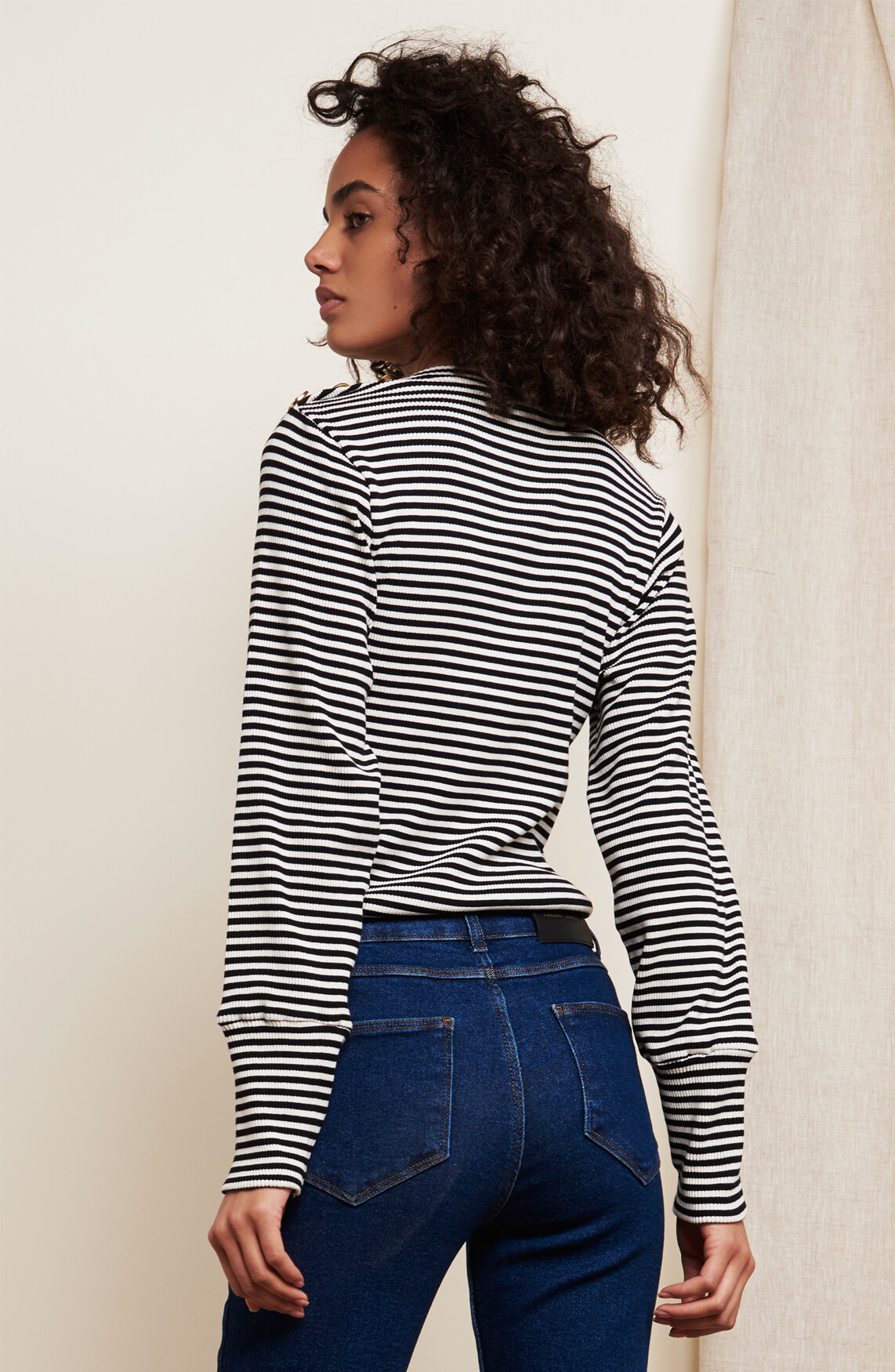 Fabienne Chapot Dames Lilou gestreepte pullover zwart