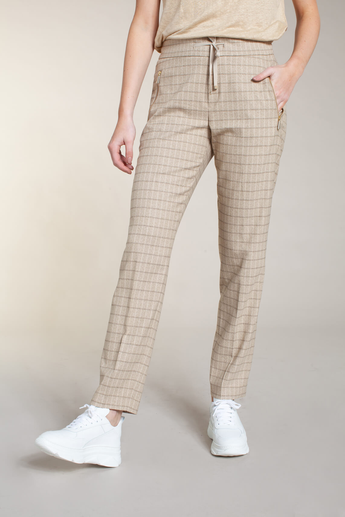 Mos Mosh Dames Gabbi pantalon Bruin