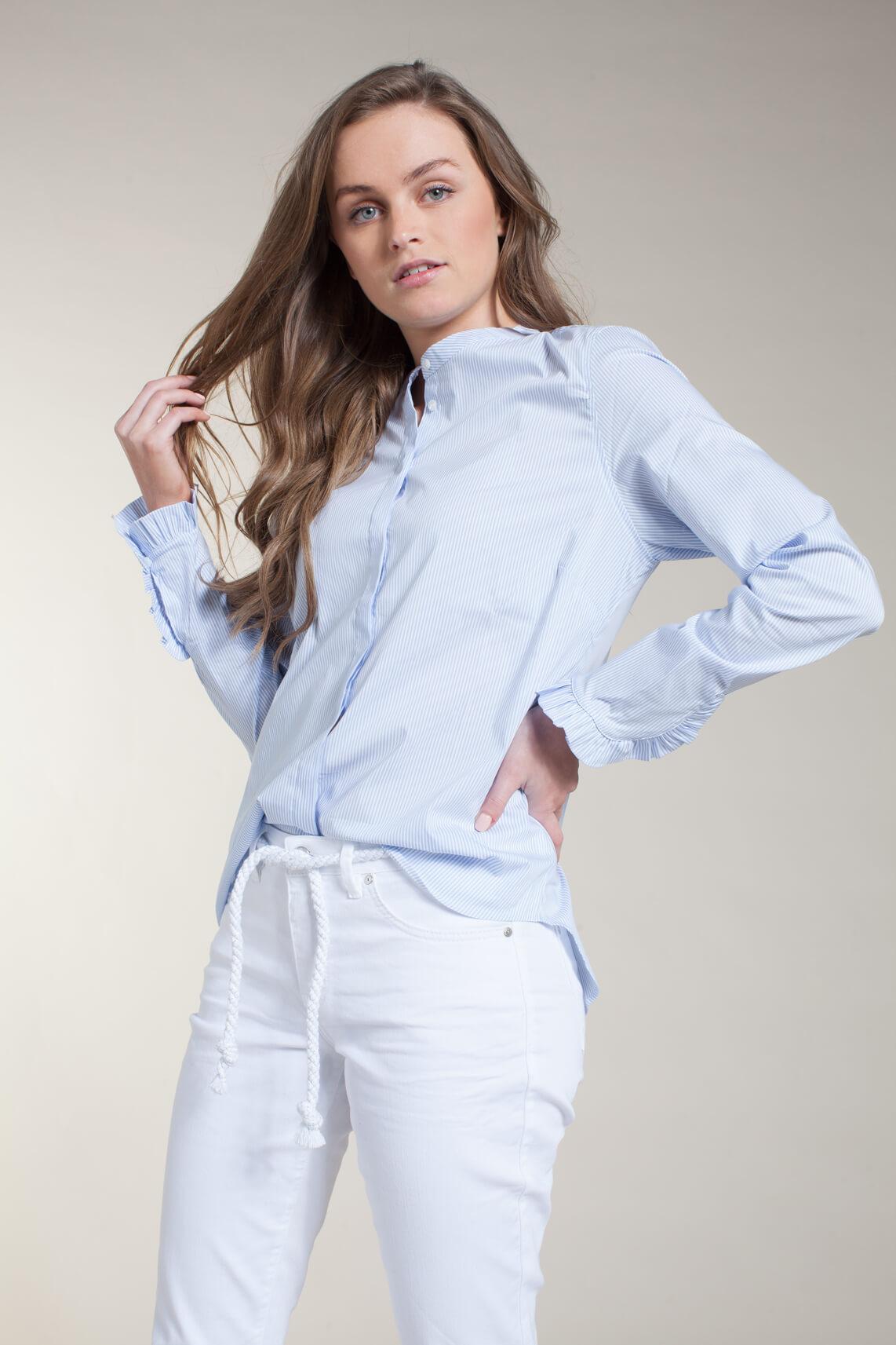 Mos Mosh Dames Mattie gestreepte blouse Blauw