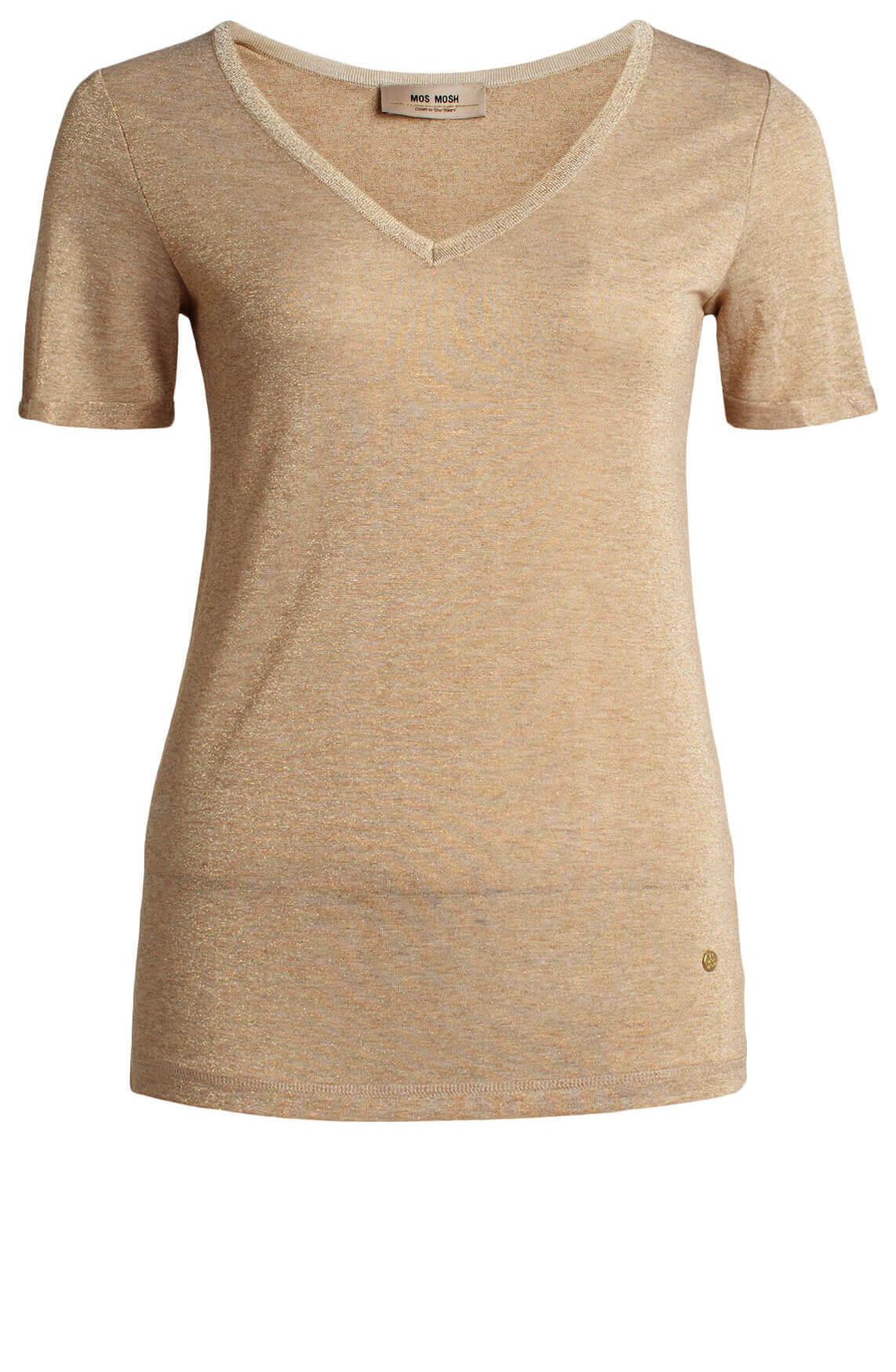 Mos Mosh Dames Casio glitter shirt goud