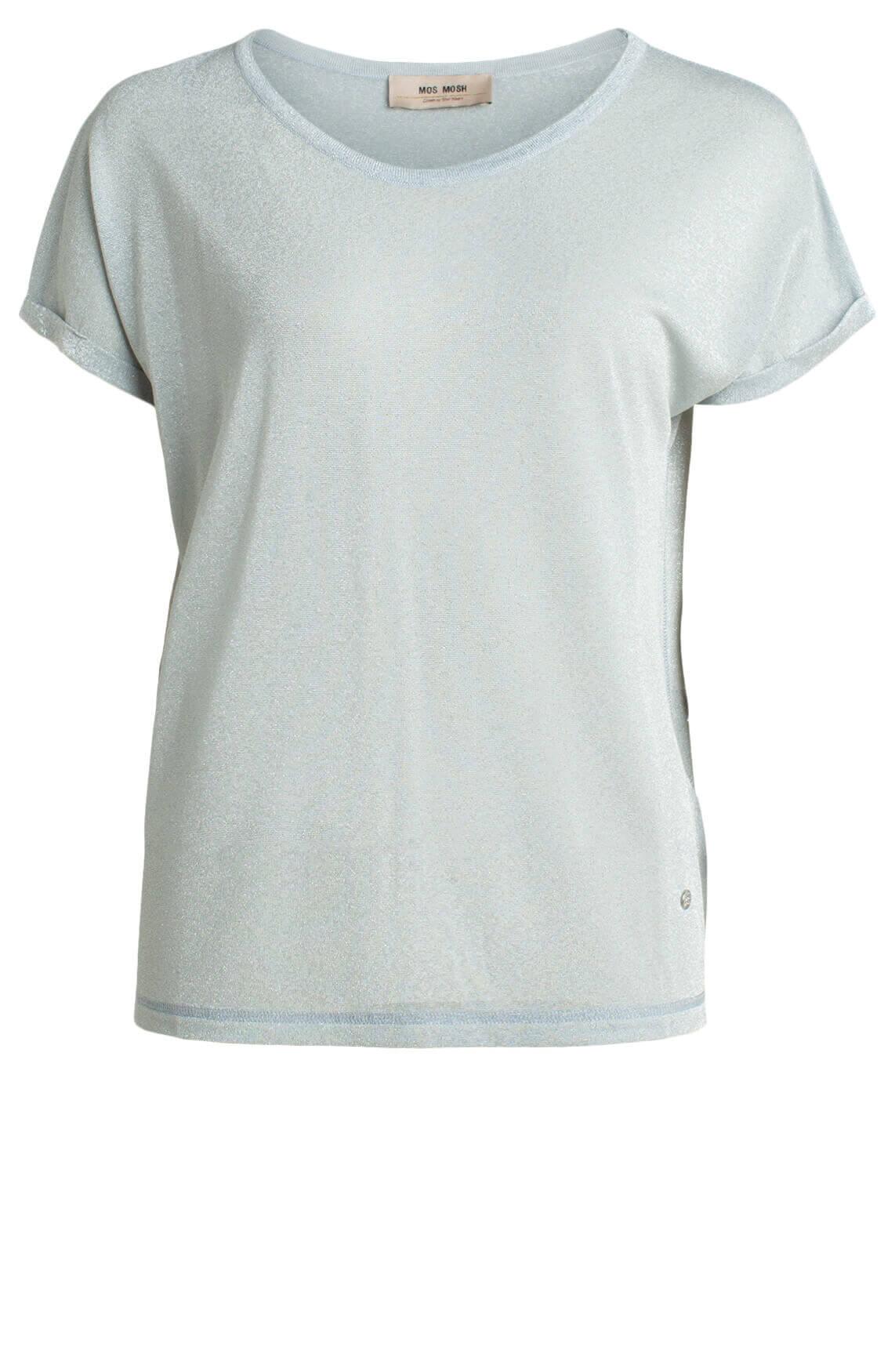 Mos Mosh Dames Kay glitter shirt Blauw