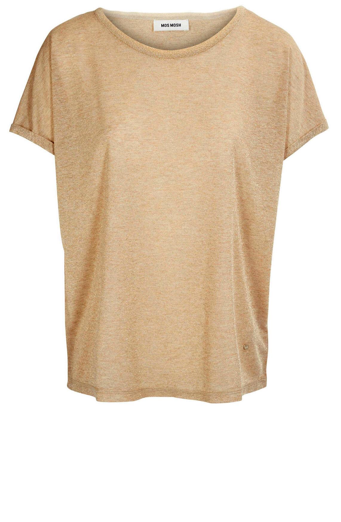 Mos Mosh Dames Kay glitter shirt goud