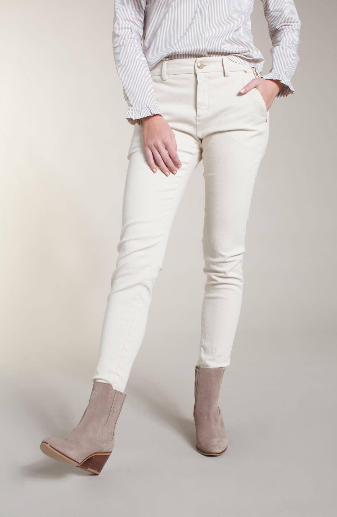 Mos Mosh Dames Blake jeans Ecru
