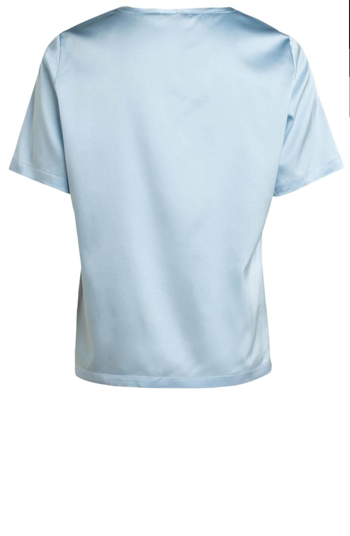 Anna Dames Zijden shirt Blauw