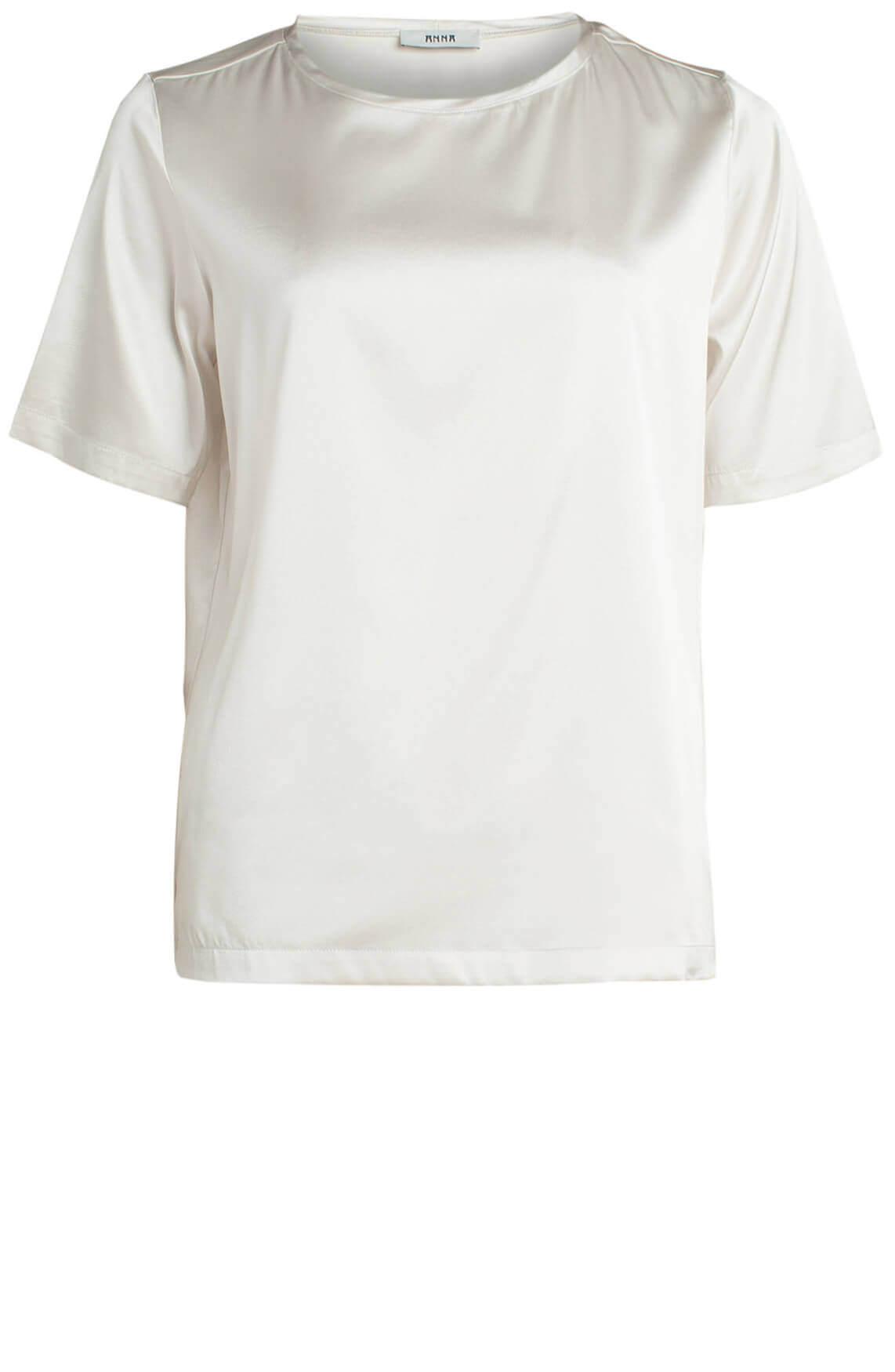 Anna Dames Zijden shirt wit