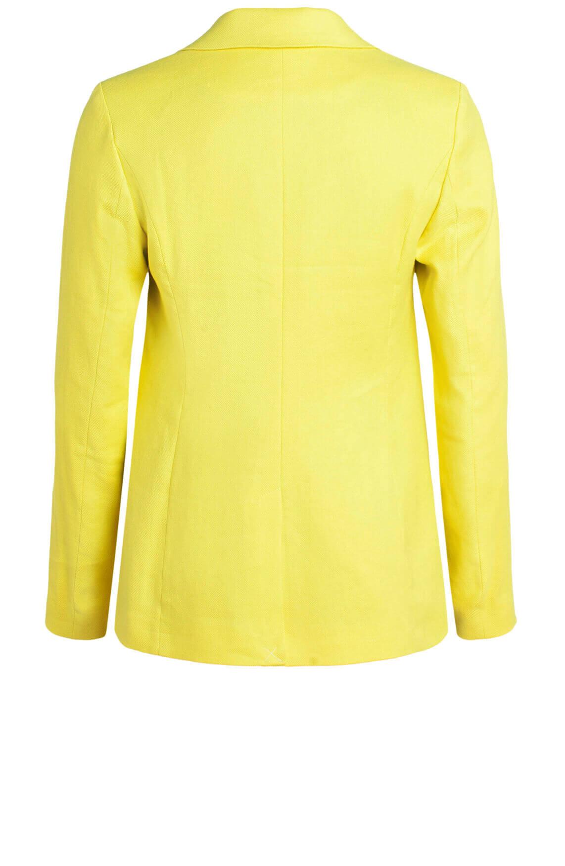 Anna Dames Blazer met linnen geel