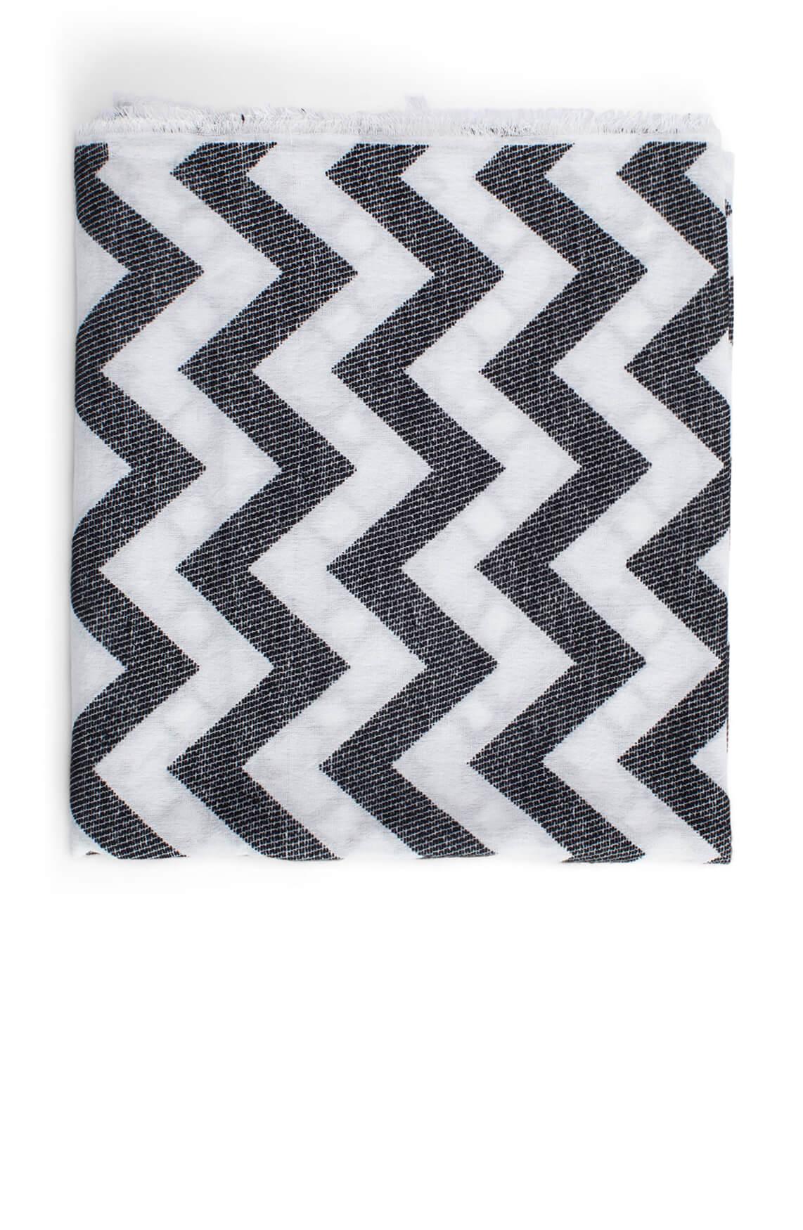 Anna Dames Zigzag shawl zwart