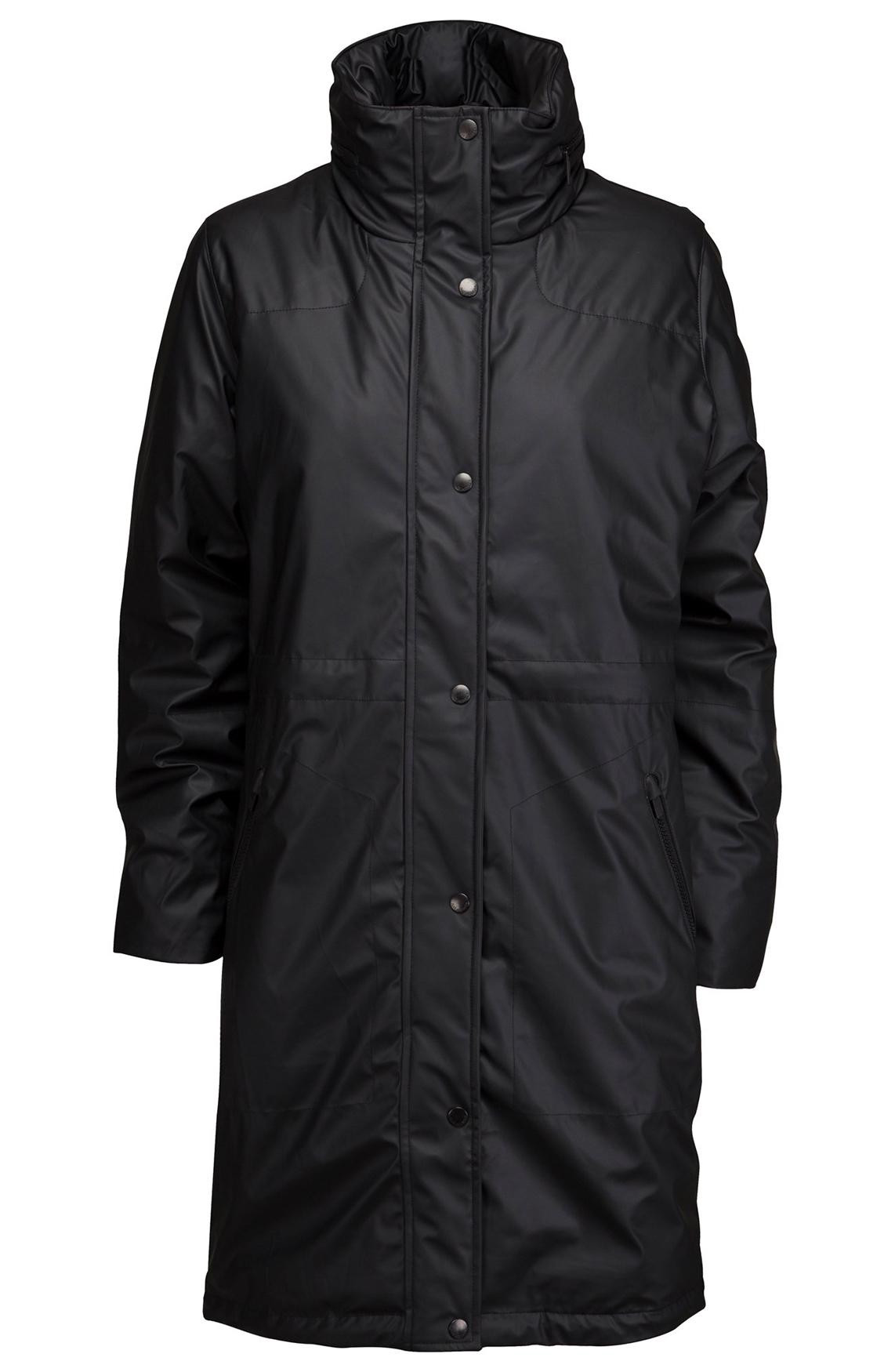 Ilse Jacobsen Dames Rubberized gecoate jas zwart