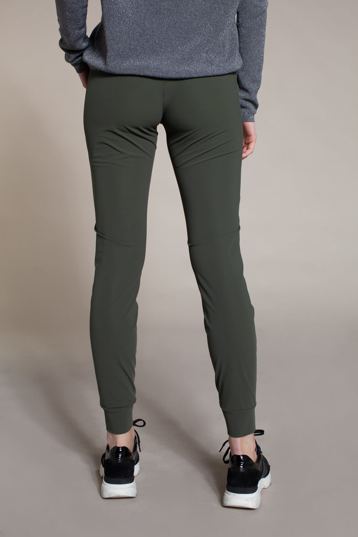 Anna Dames Jersey sensitive jogpantalon groen
