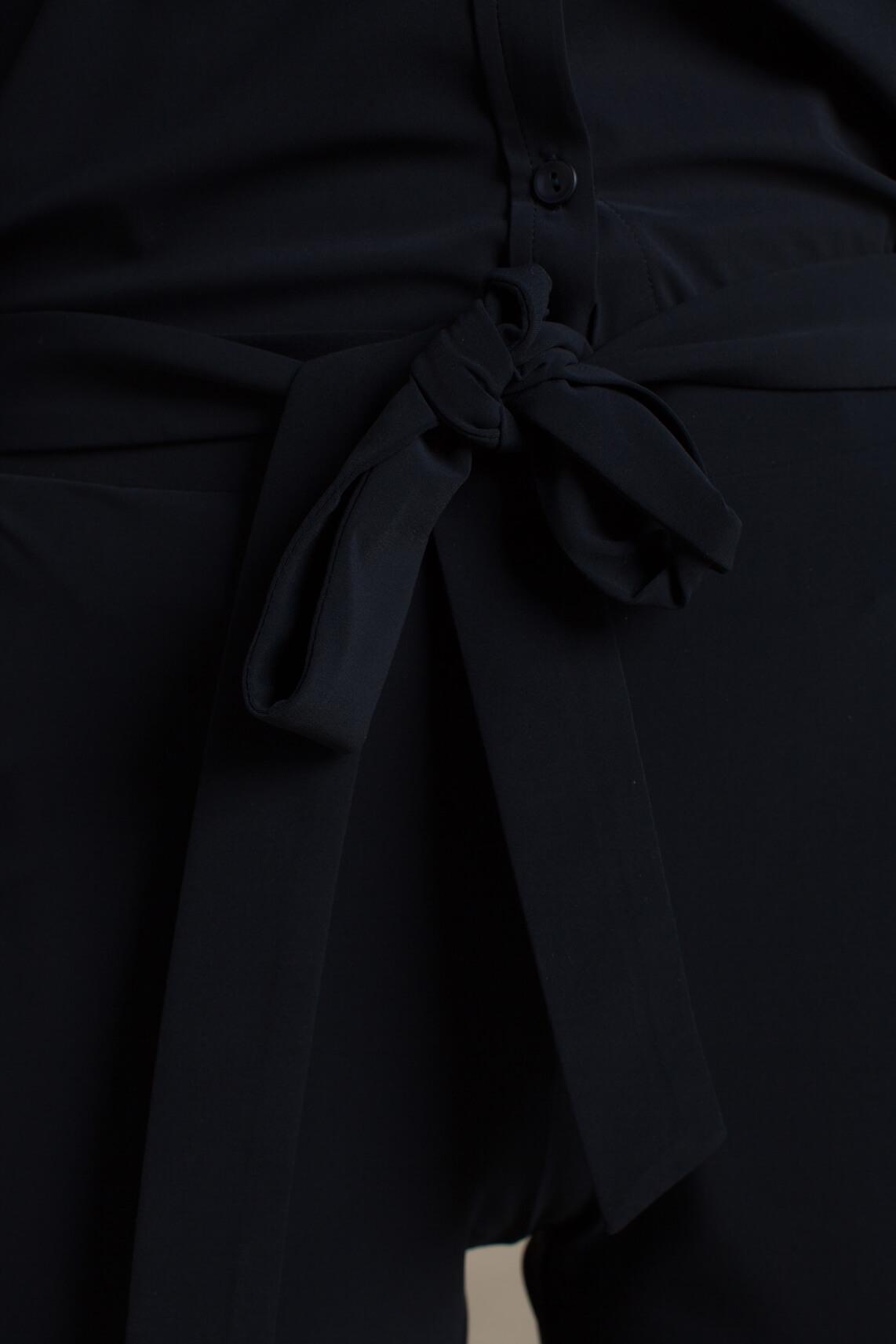 Anna Dames Flared jersey sensitive broek Blauw