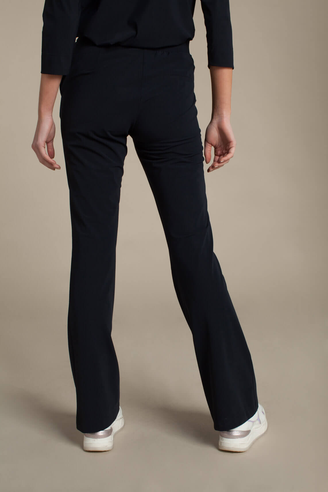 Anna Dames Flared jersey sensitive broek Blauw