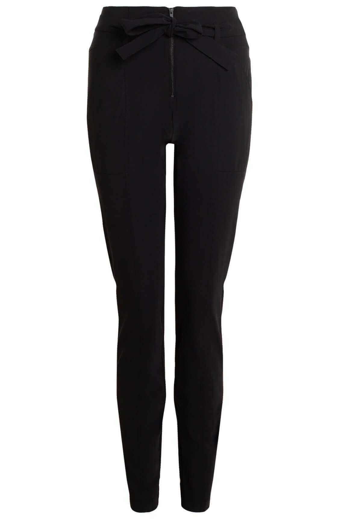 Anna Dames Jersey sensitive broek met rits zwart