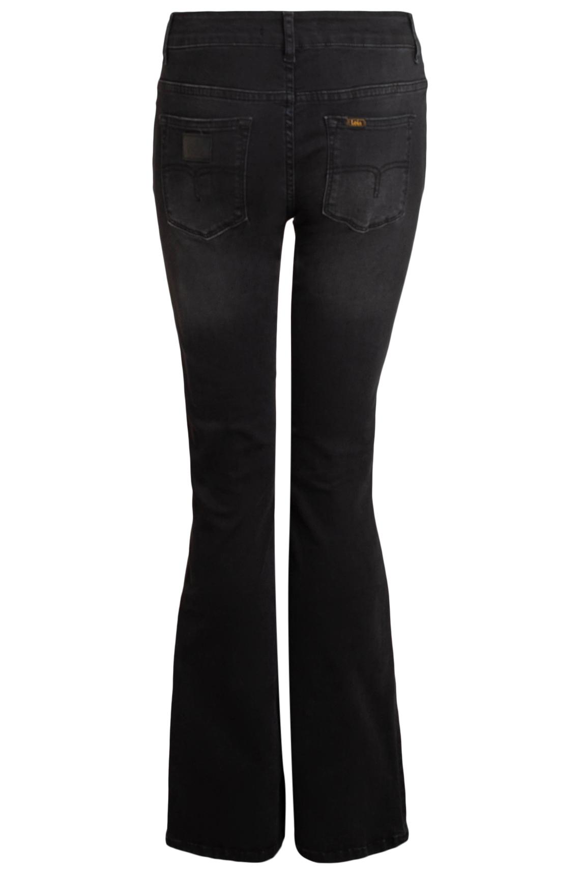 Lois Dames L34 Leia Onix flared jeans zwart