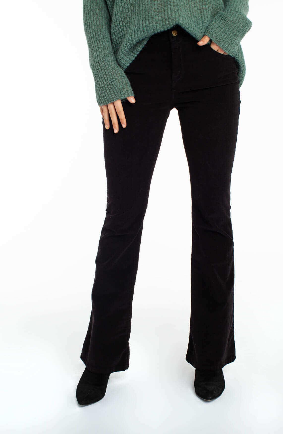 Lois Dames Micro Beat flared jeans L32 zwart