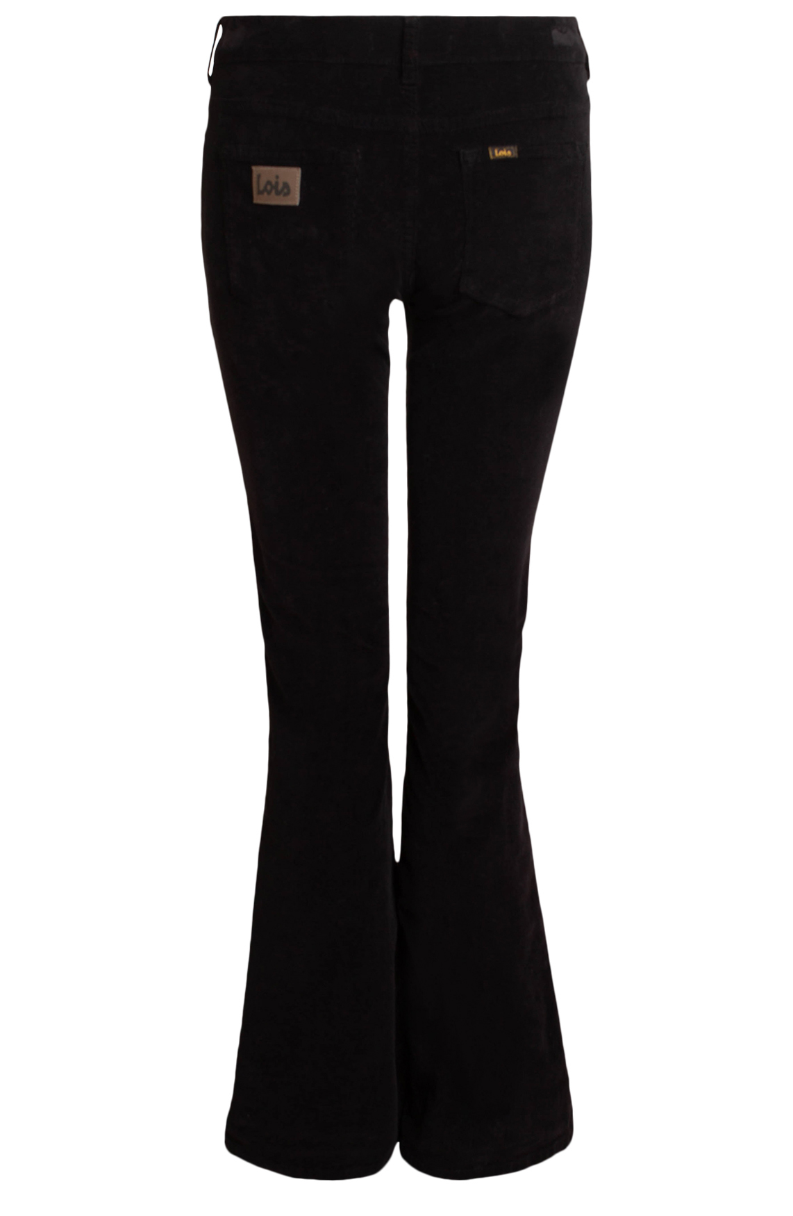 Lois Dames Micro Beat flared jeans L34 zwart