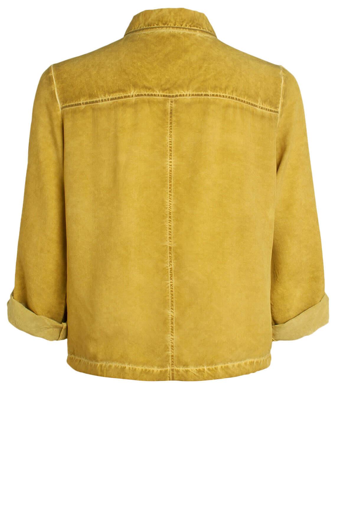 Anna Dames Garment dye blouse groen