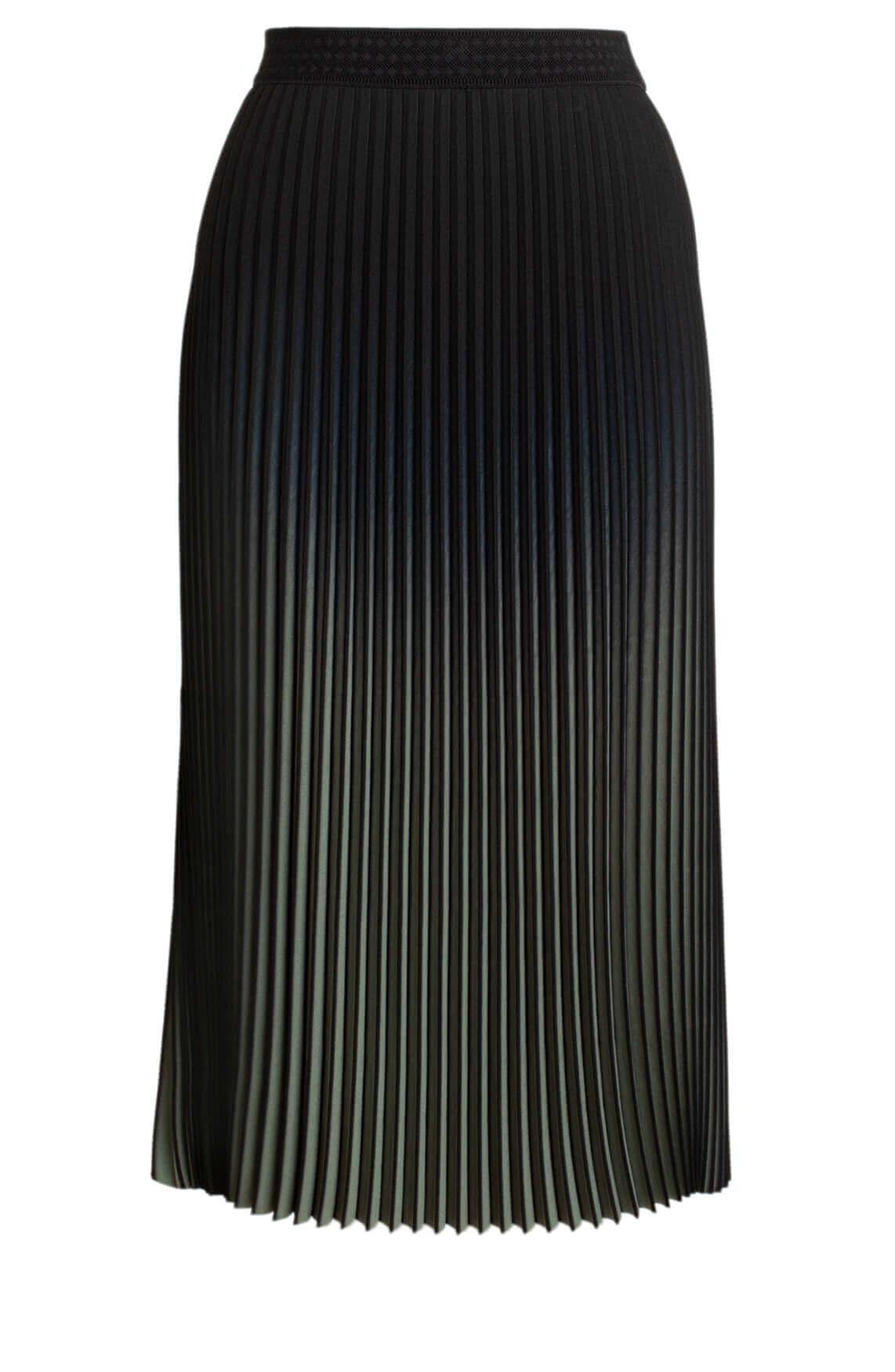 Anna Dames Plissé rok zwart
