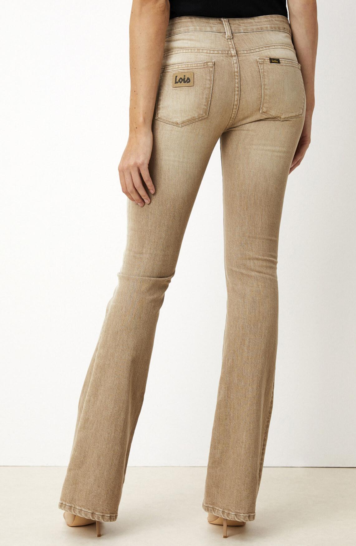 Lois Dames L32 Raval flared jeans Bruin