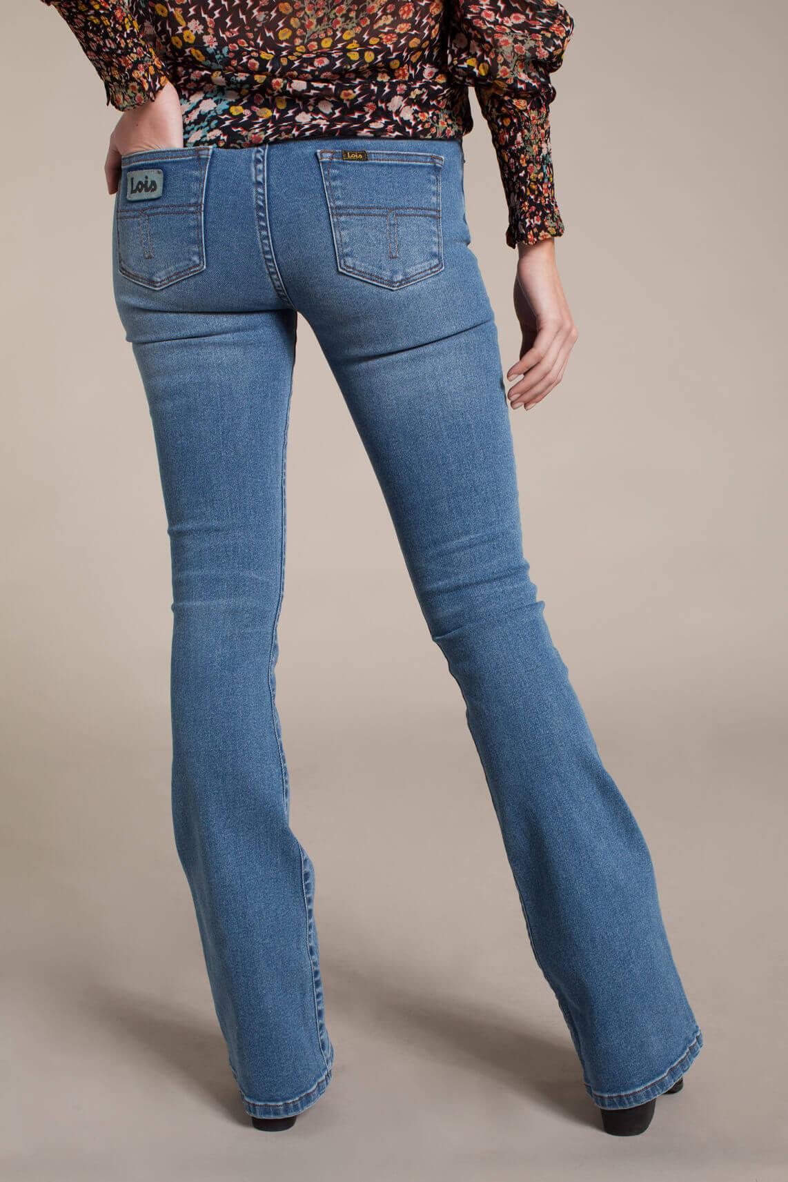 Lois Dames L32 Raval super high rise flared jeans Blauw
