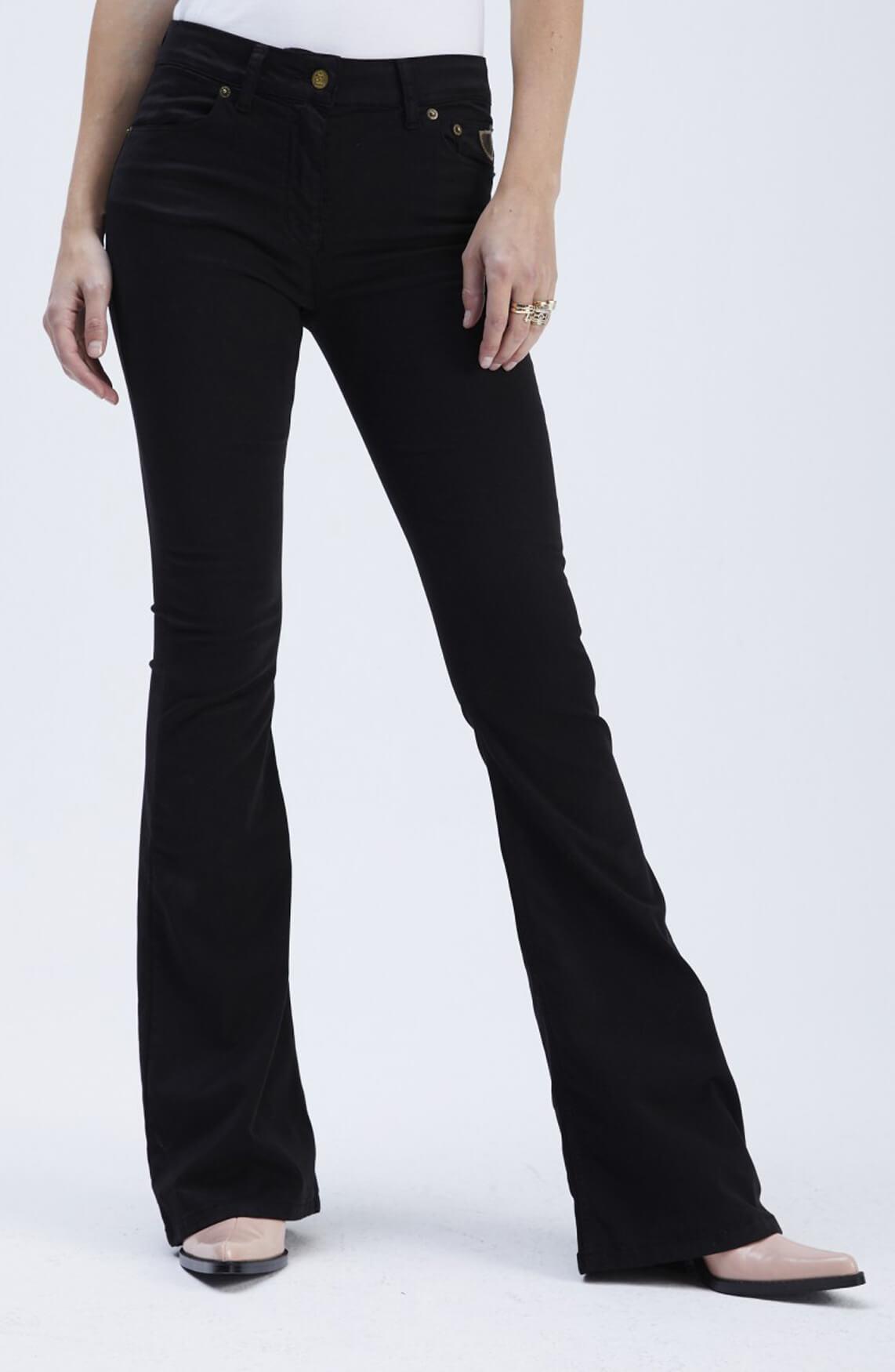 Lois Dames Lea tencel flared broek L34 zwart