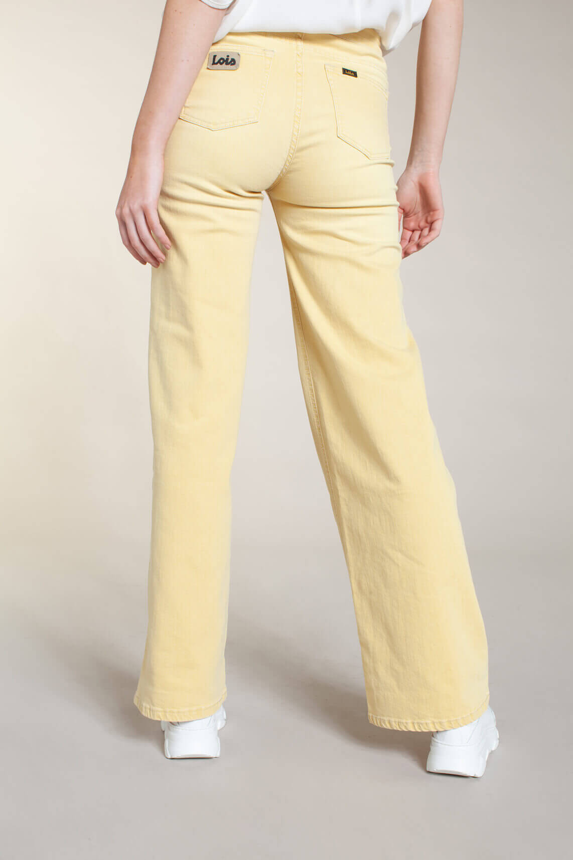 Lois Dames L32 Palazzo flared jeans geel