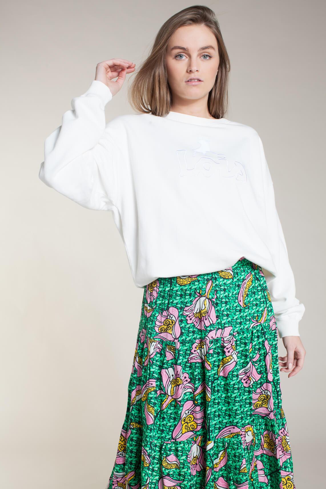 Lois Dames Sanna oversized sweater wit