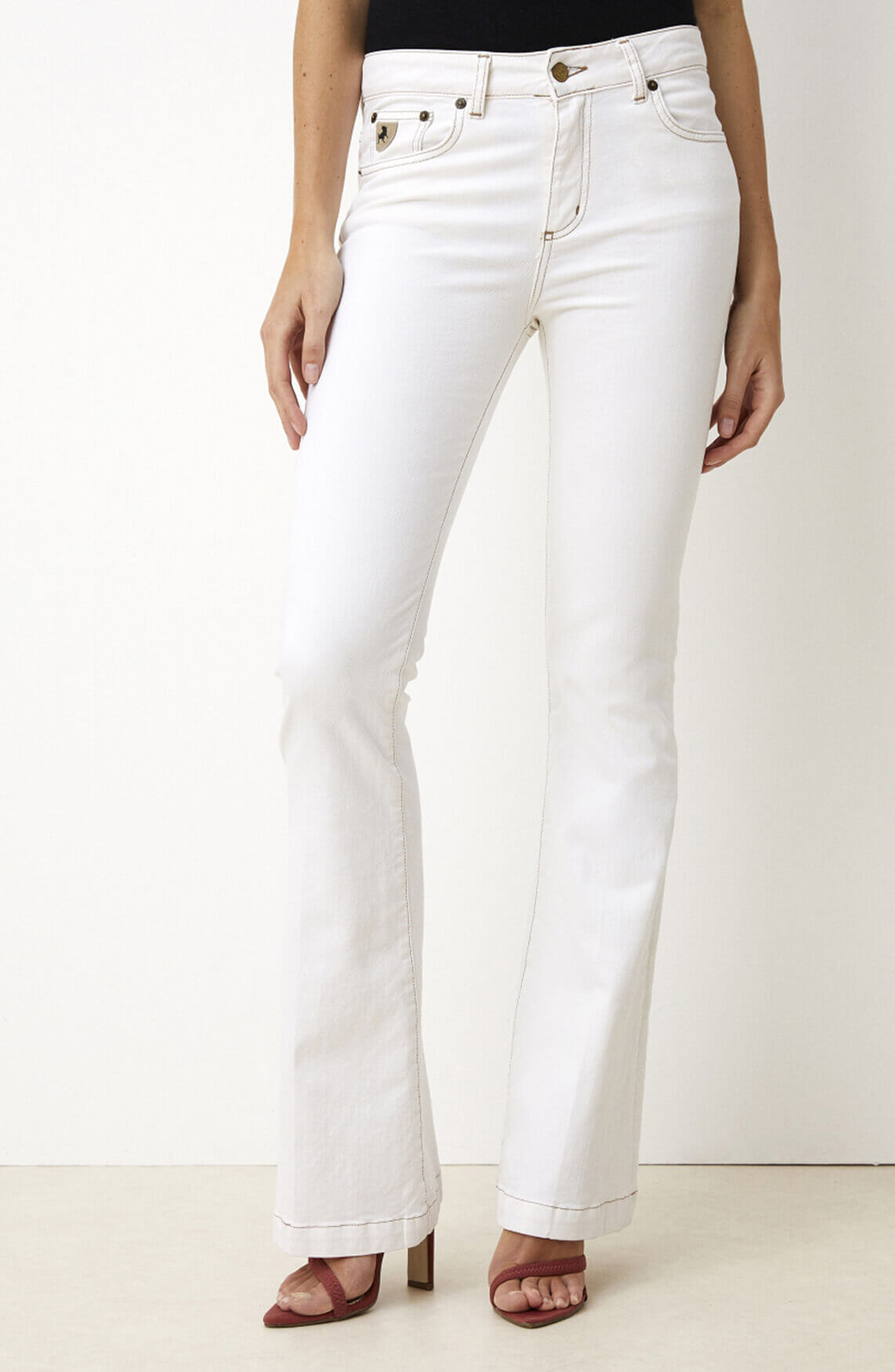 Lois Dames L32 Cheers Chic jeans Ecru