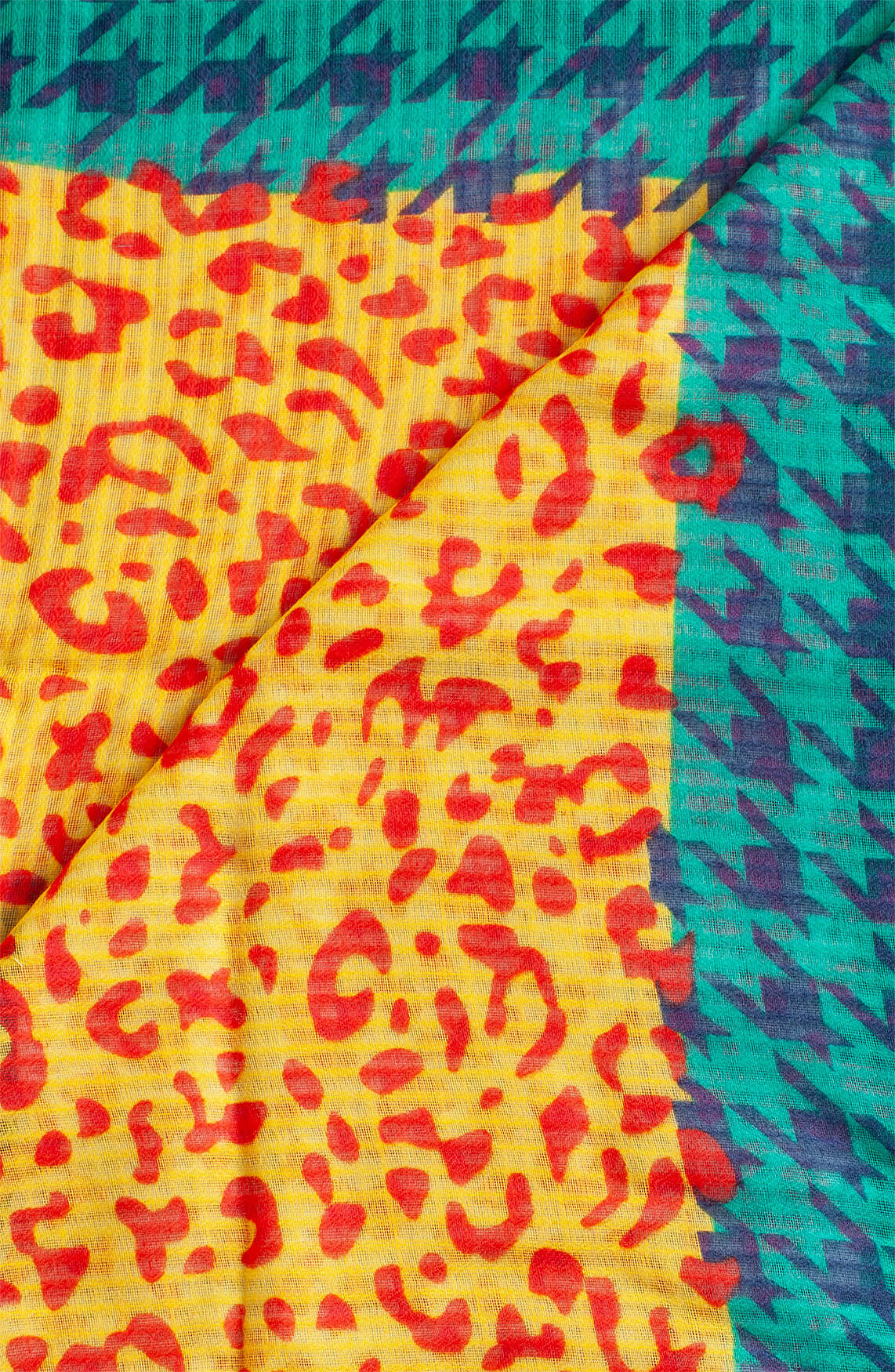 Codello Dames Shawl met variërende print Blauw