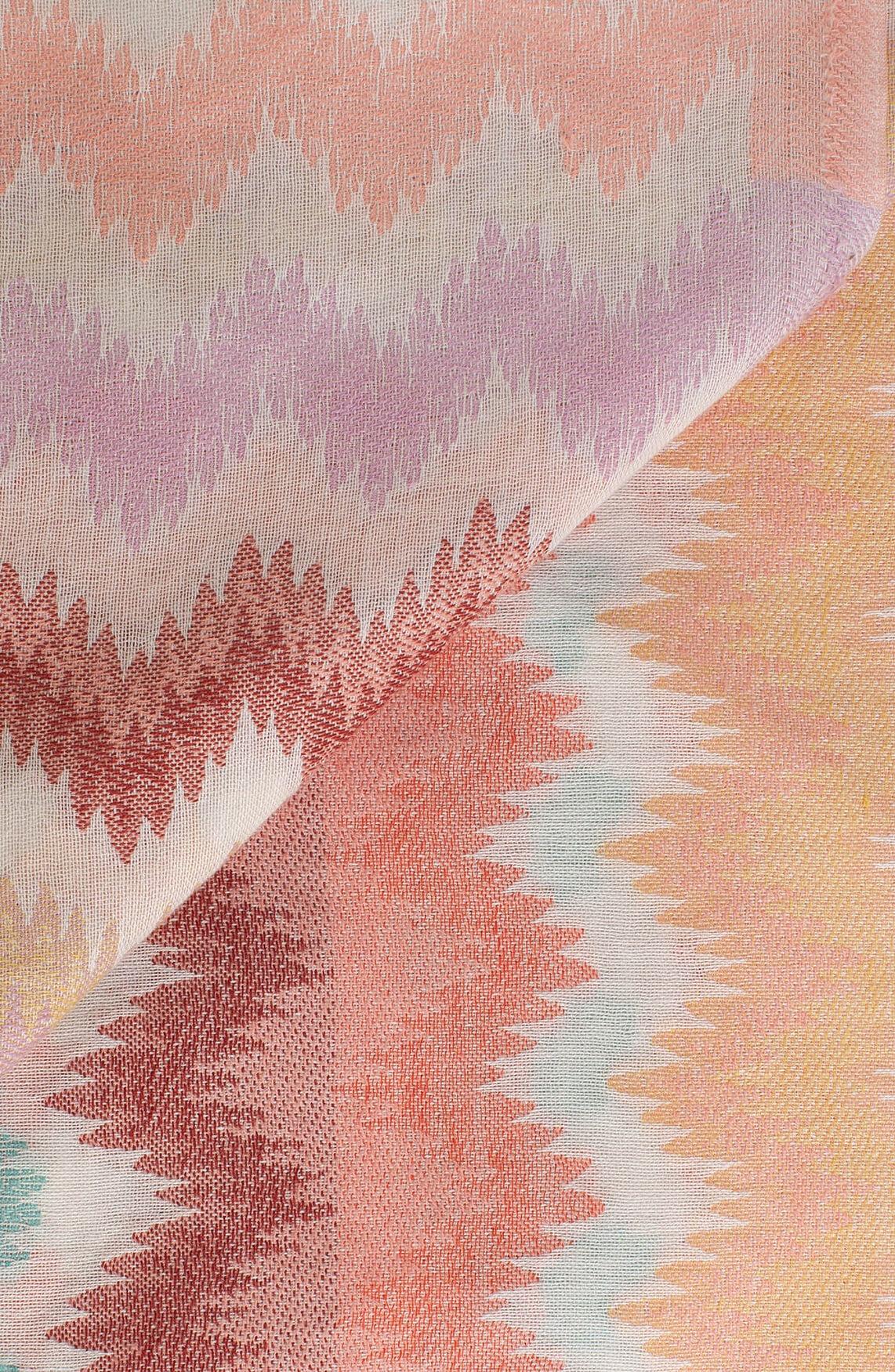 Codello Dames Zigzag shawl roze