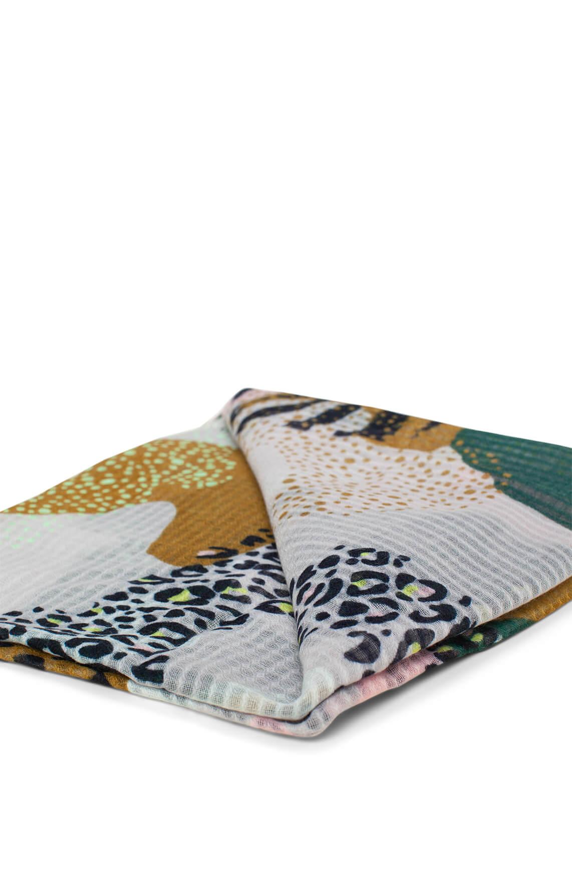 Codello Dames Shawl met camouflageprint groen