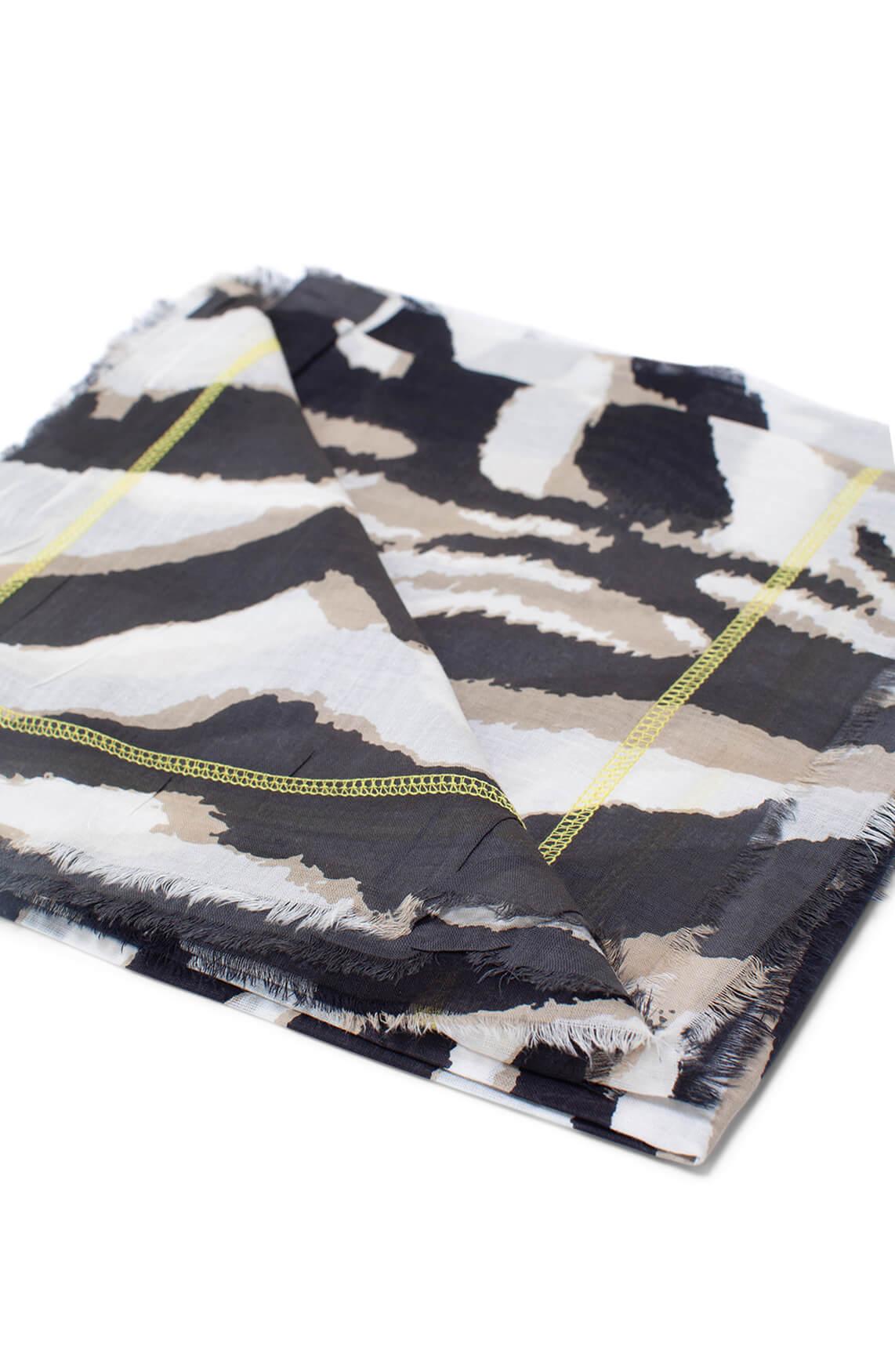 Codello Dames Shawl met zebraprint Grijs