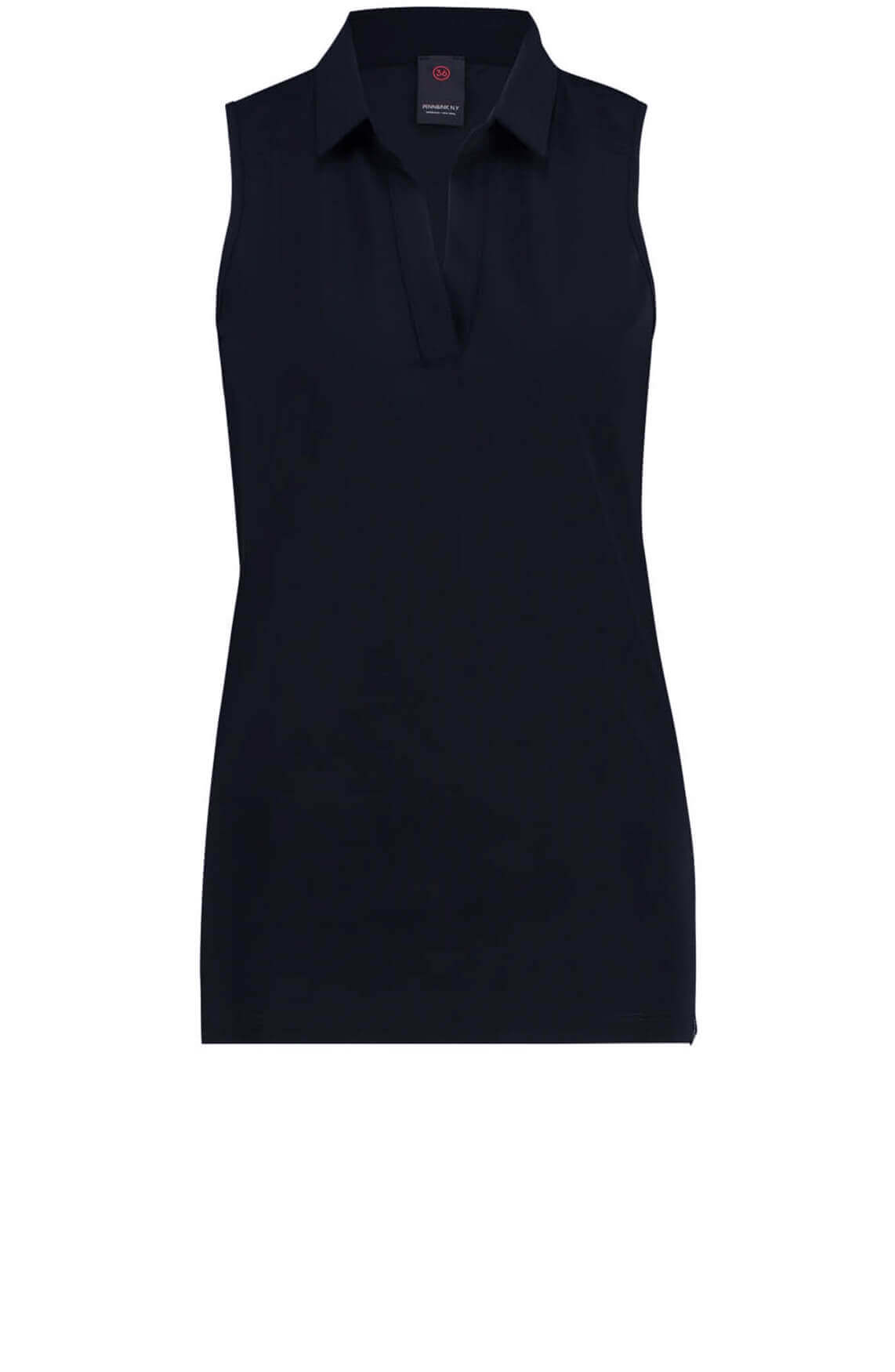 Penn & Ink Dames Mouwloze blouse Blauw