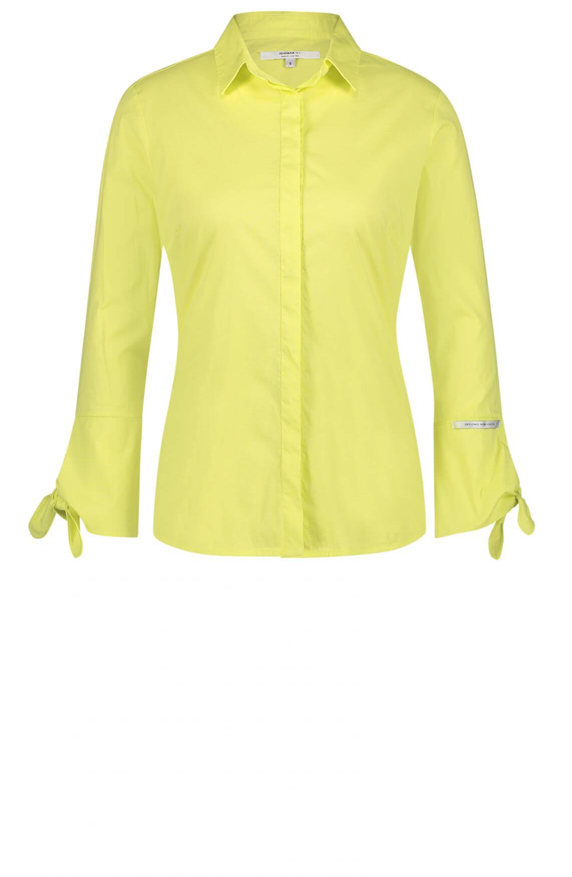 Penn & Ink Dames Blouse met strikdetail geel