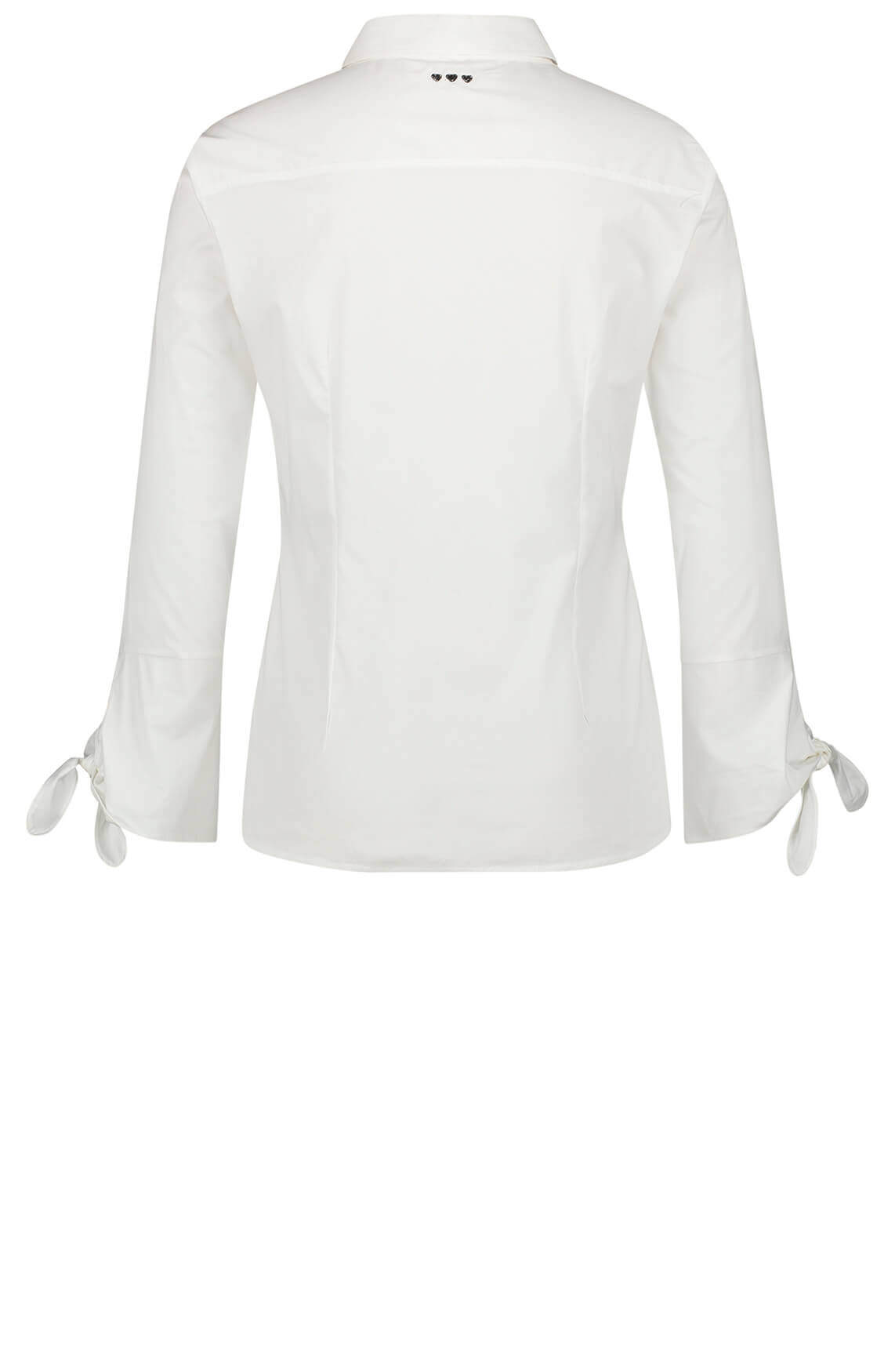 Penn & Ink Dames Blouse met strikdetail wit