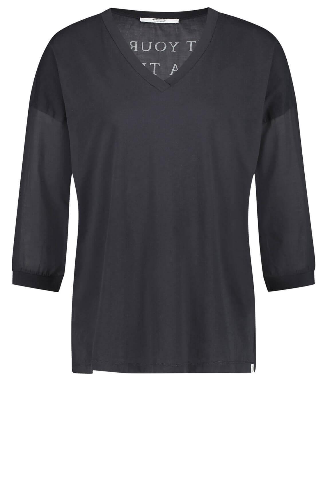 Penn & Ink Dames Shirt met v-hals Blauw
