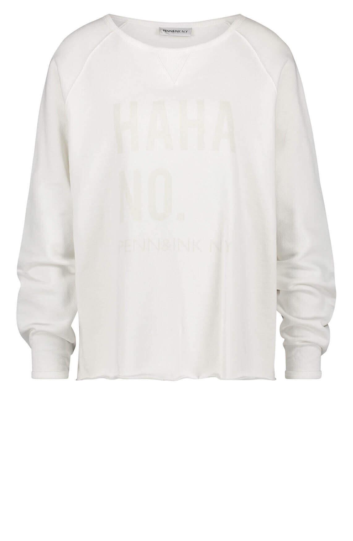 Penn & Ink Dames Sweater wit