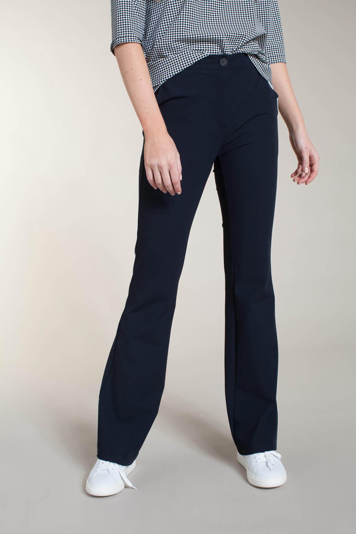 Penn & Ink Dames Flared broek Blauw