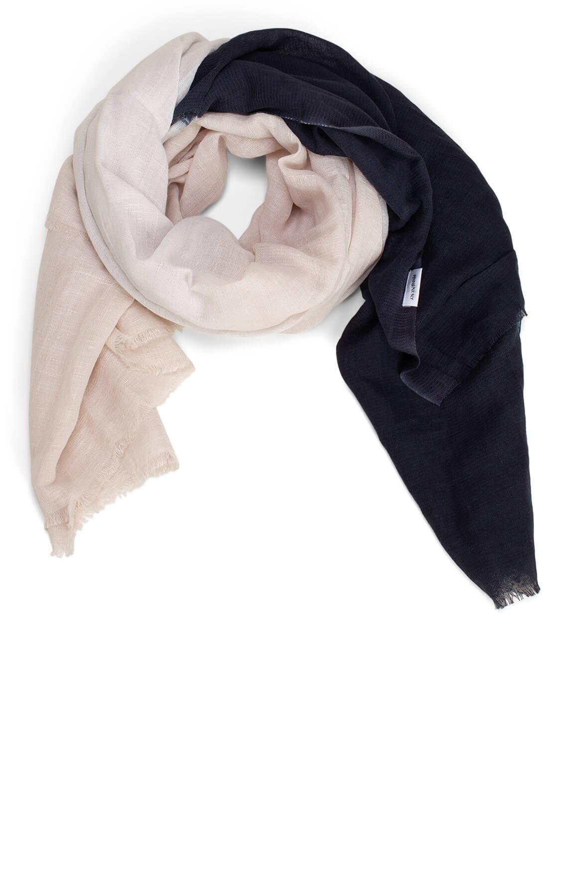 Penn & Ink Dames Tweekleurige shawl Grijs