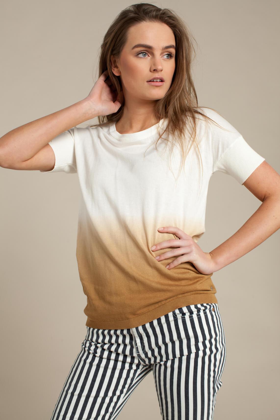 Anna Dames Shirt met kleurverloop Ecru